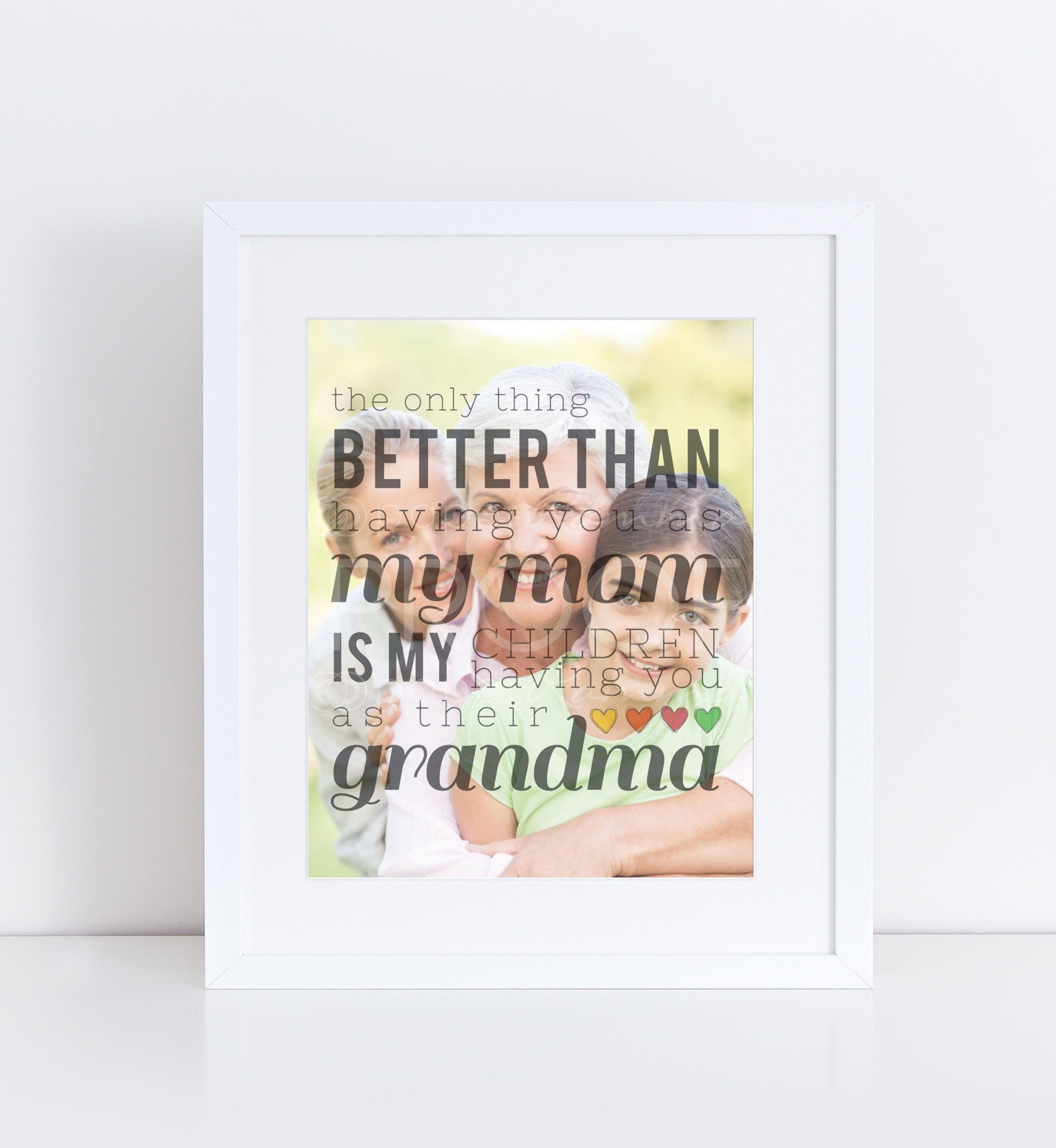 Grandma Photo Quote, Personalized Photo Gifts