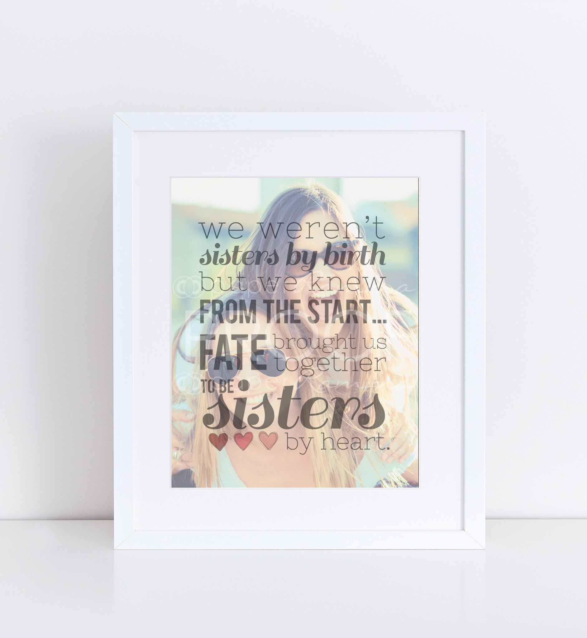 Sister's By Heart Personalized Photo Quote