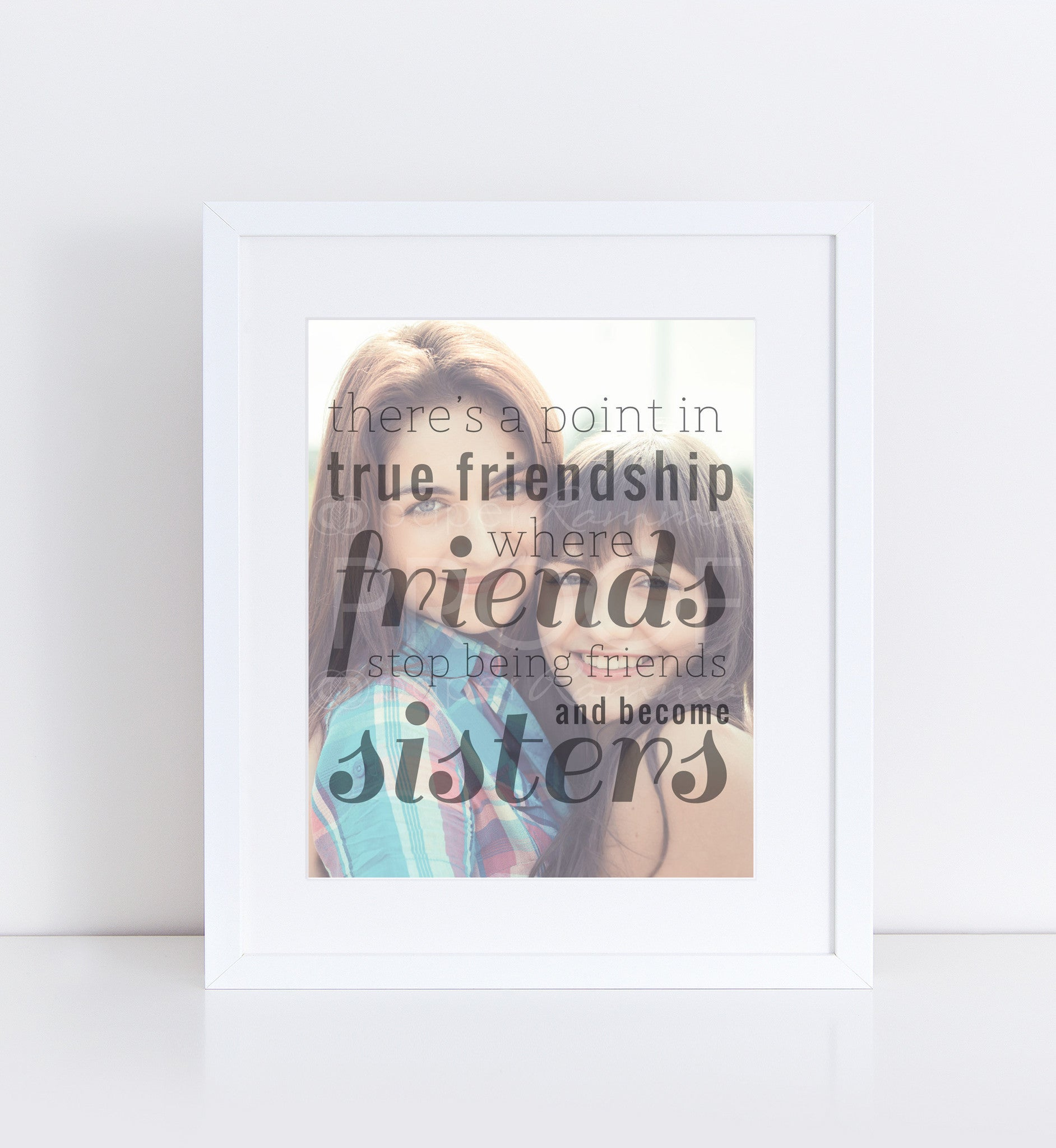 True Friendship Personalized Photo Quote