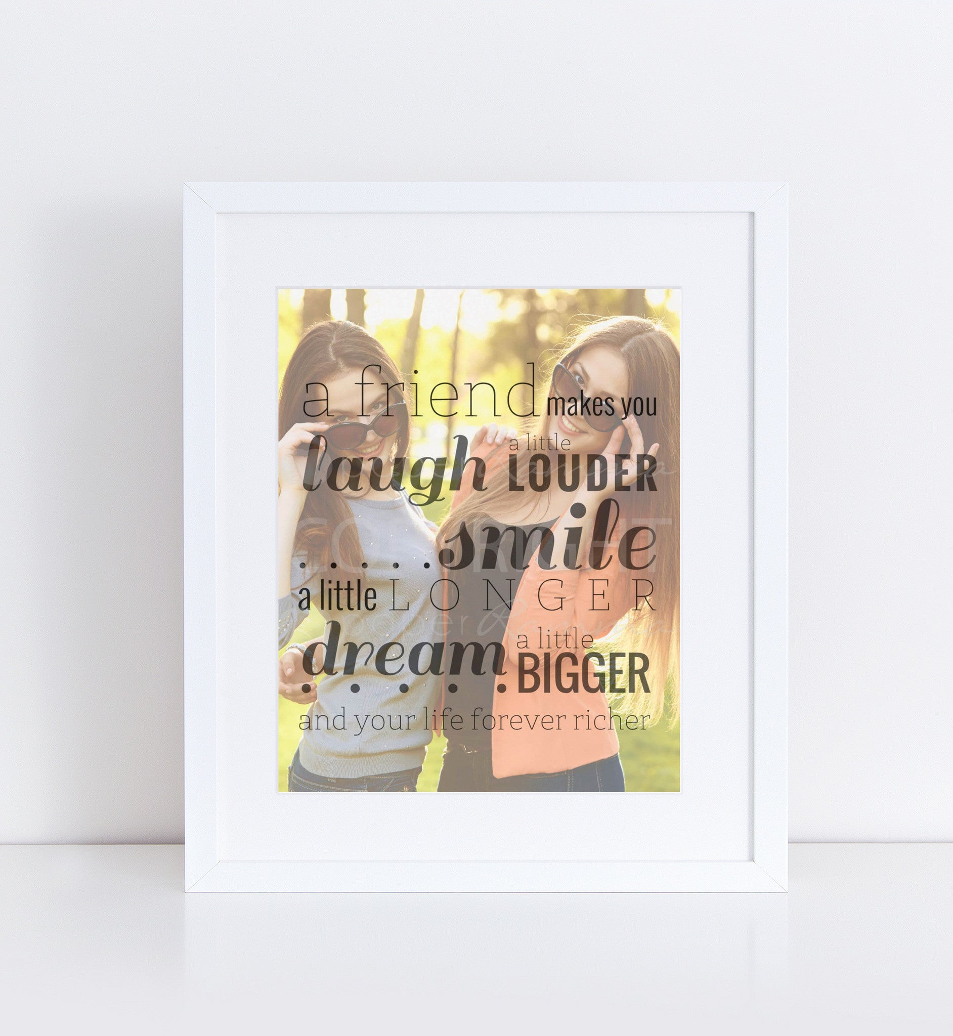 Laugh, Smile, Dream Friend Personalized Photo Quote