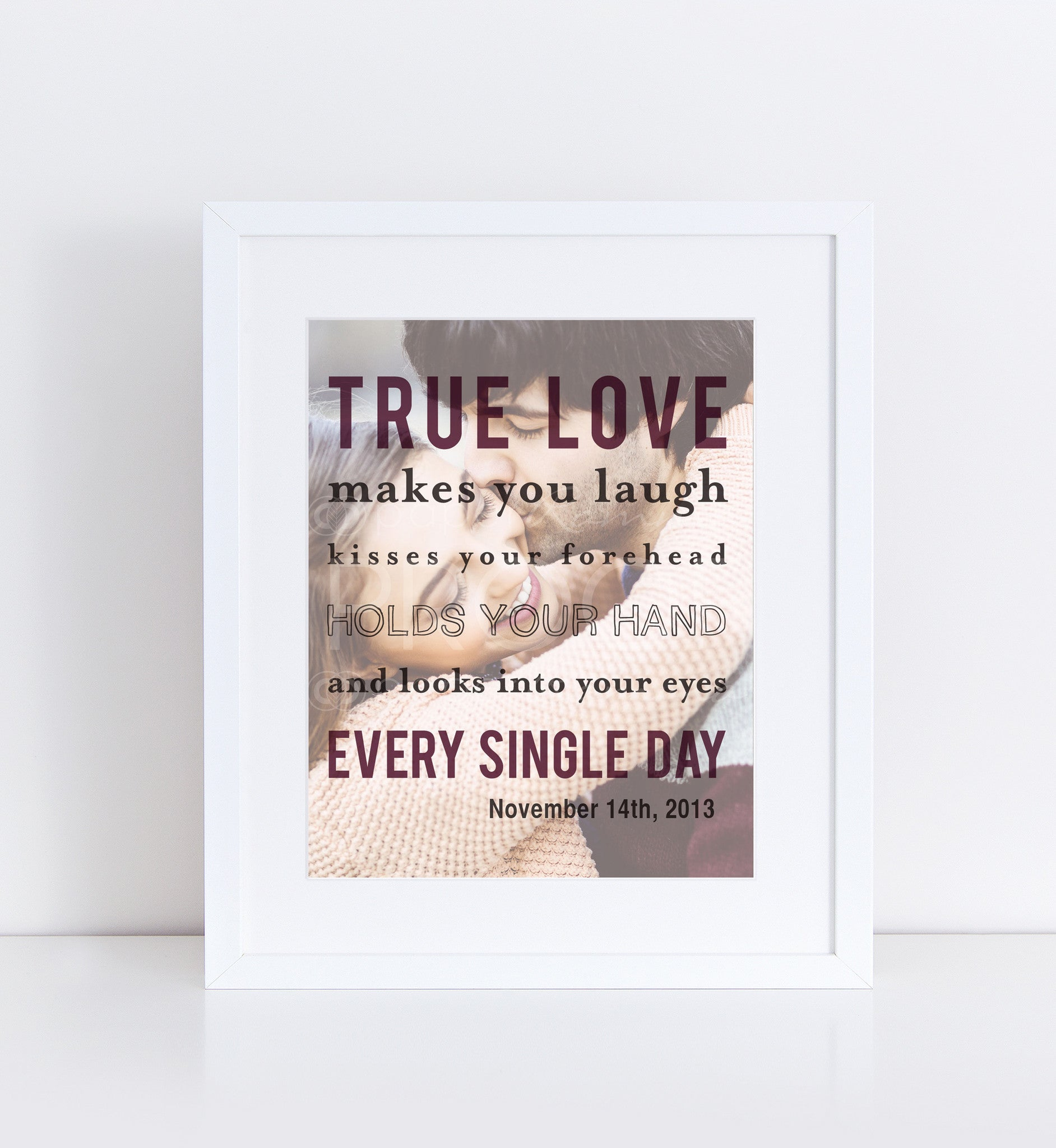 True Love Personalized Photo Quote