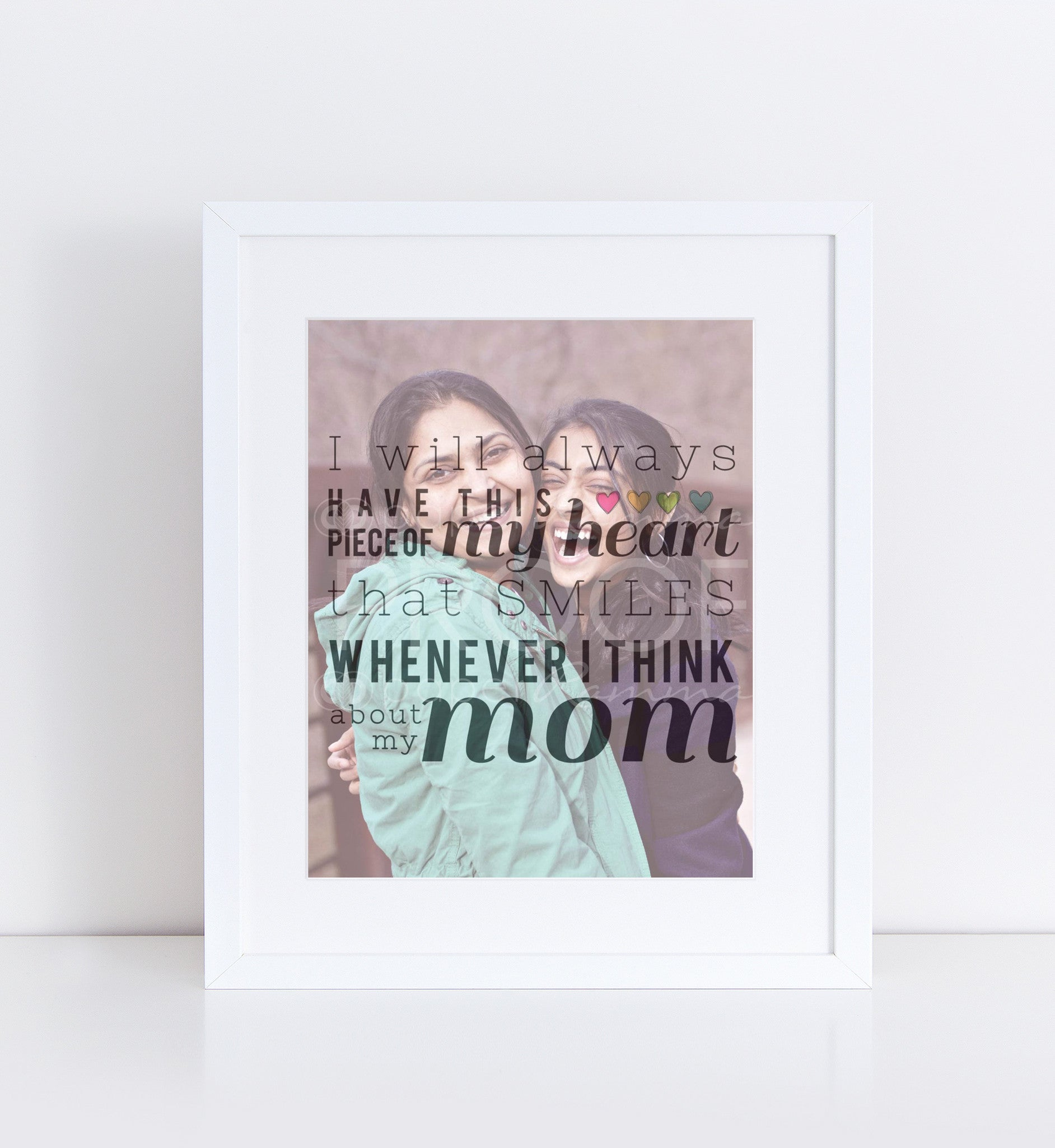 Gift for Mom Photo Personalized Photo Quote