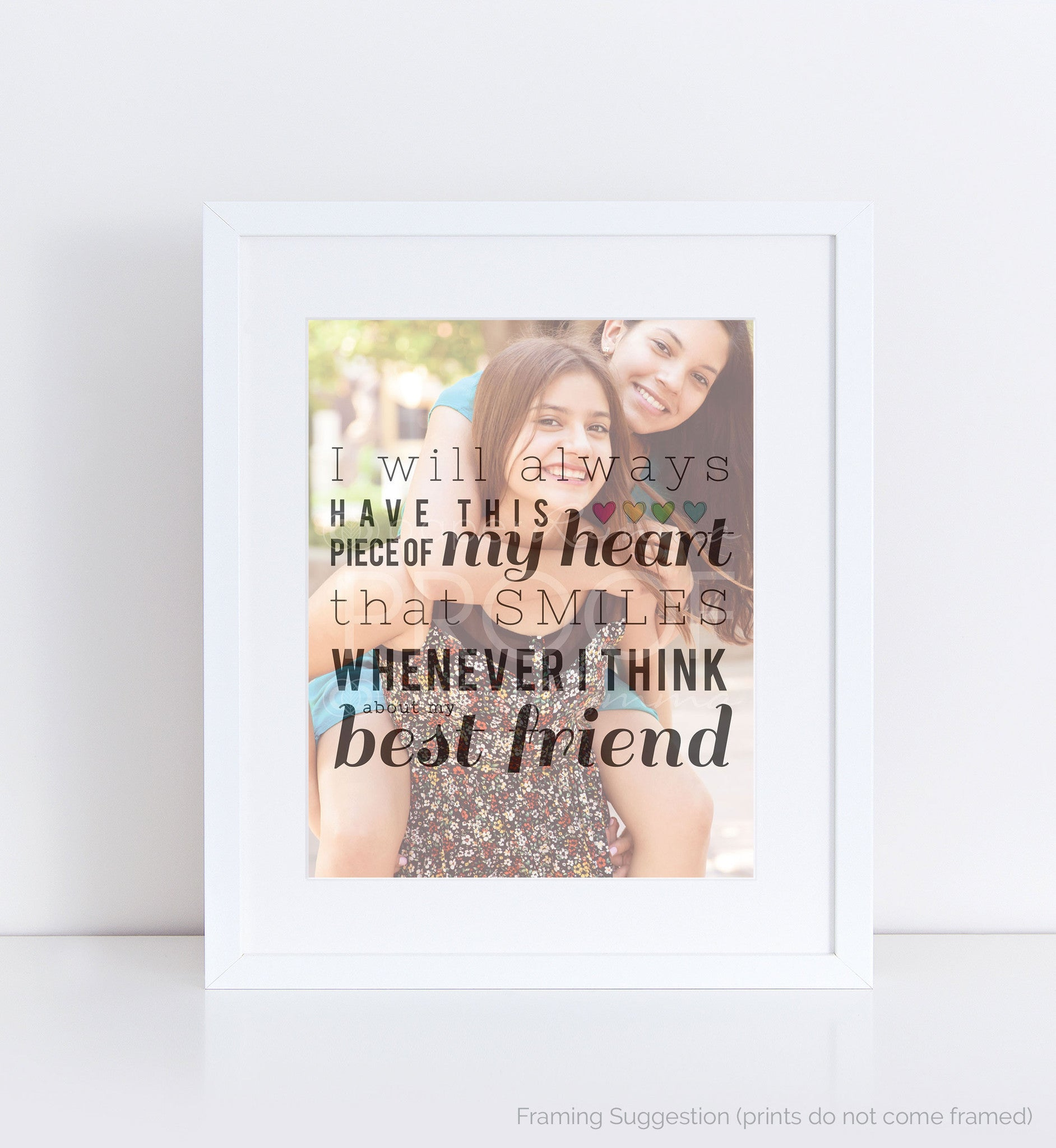 Special Best Friend Quote</br> <small> <i/>Photo Quote Print</i> </br> <small>available in 8x10 - 18x24