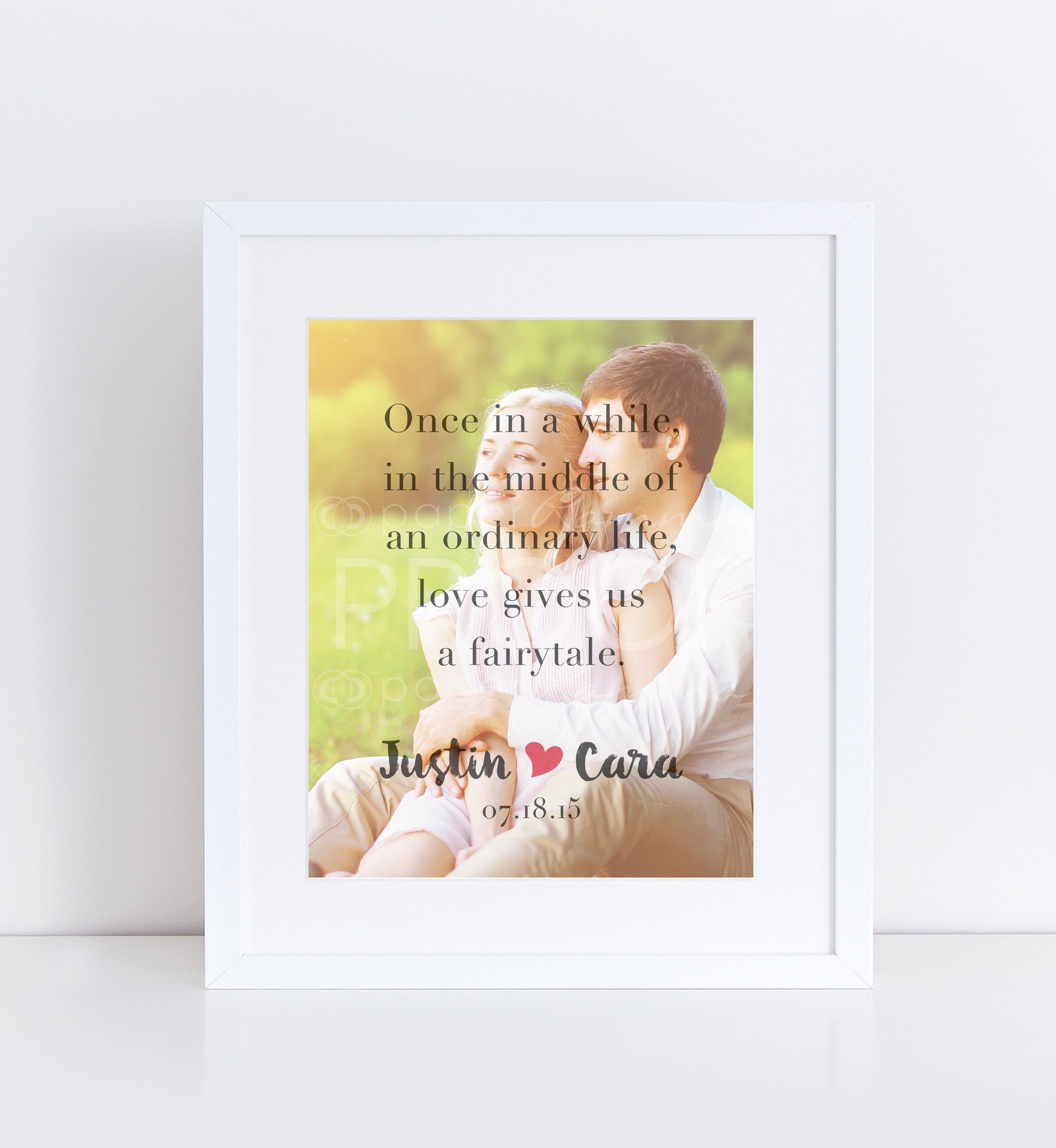 Fairytale Love Photo Quote, Personalized Photo Gifts