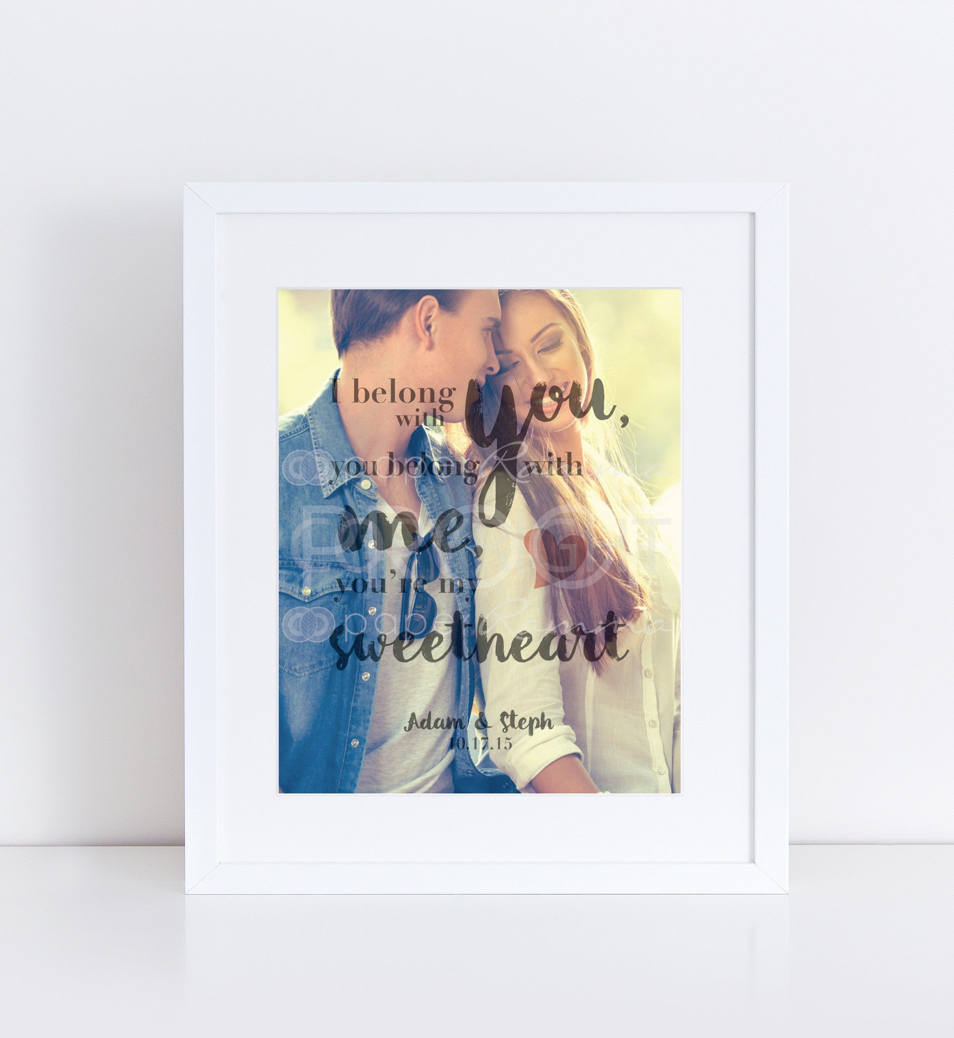 You're My Sweetheart Personalized Photo Quote
