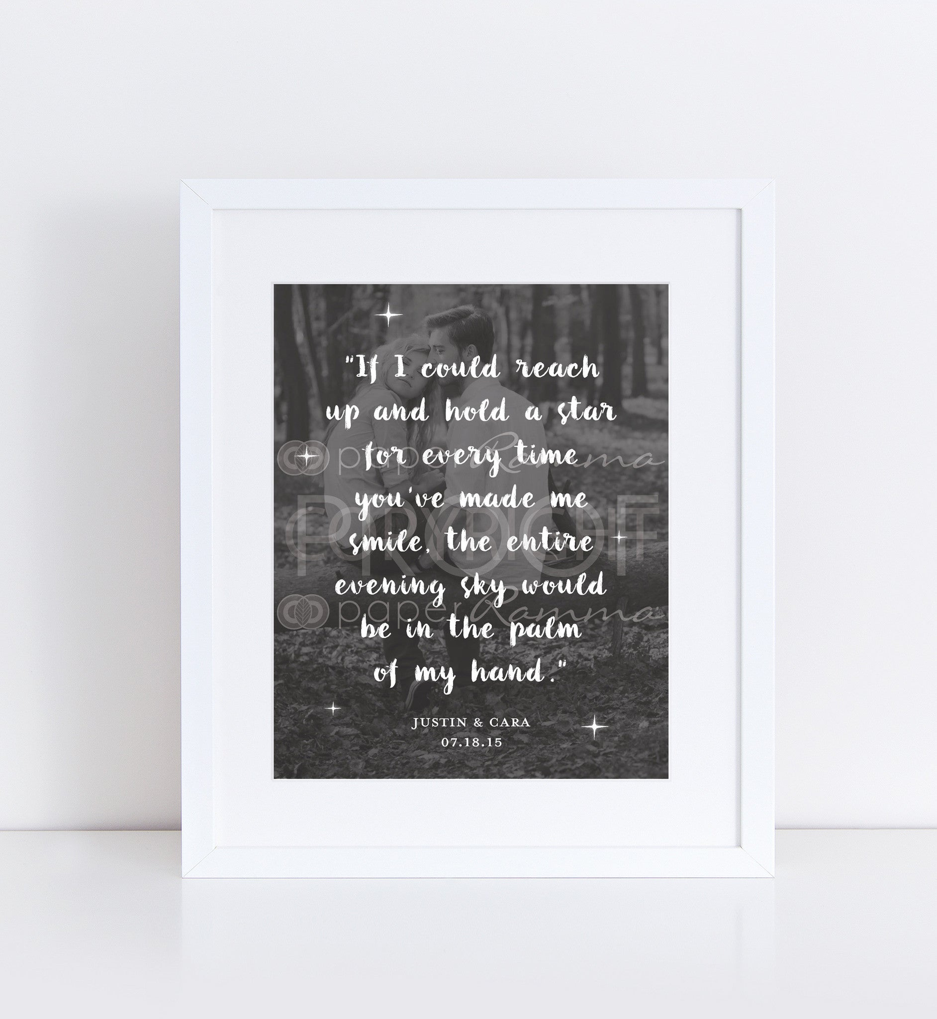 Romantic Anniversary Quote</br> <small> <i/>Photo Quote Print</i> </br> <small>available in 8x10 - 18x24