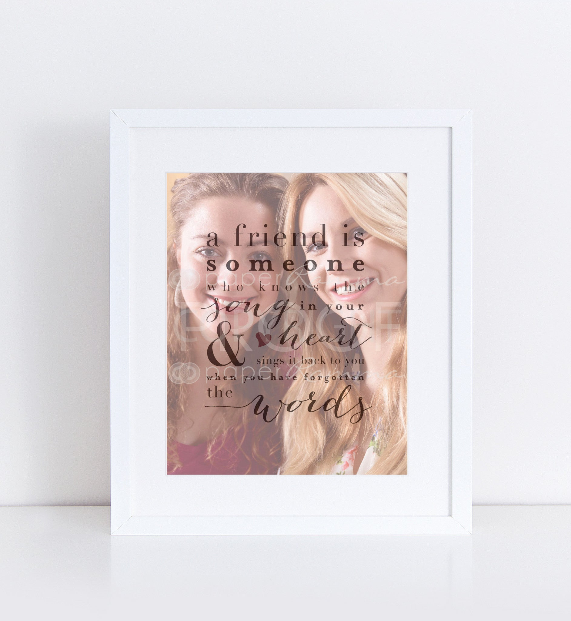 Song in Your Heart Personalized Photo Quote