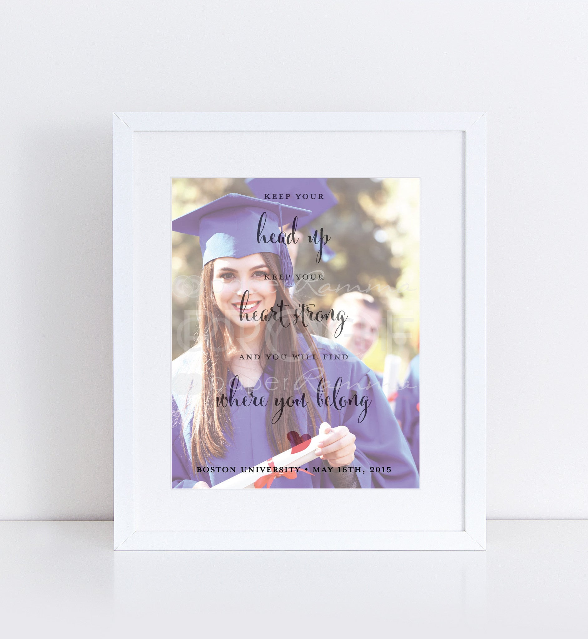Graduation Quote Personalized Photo Quote