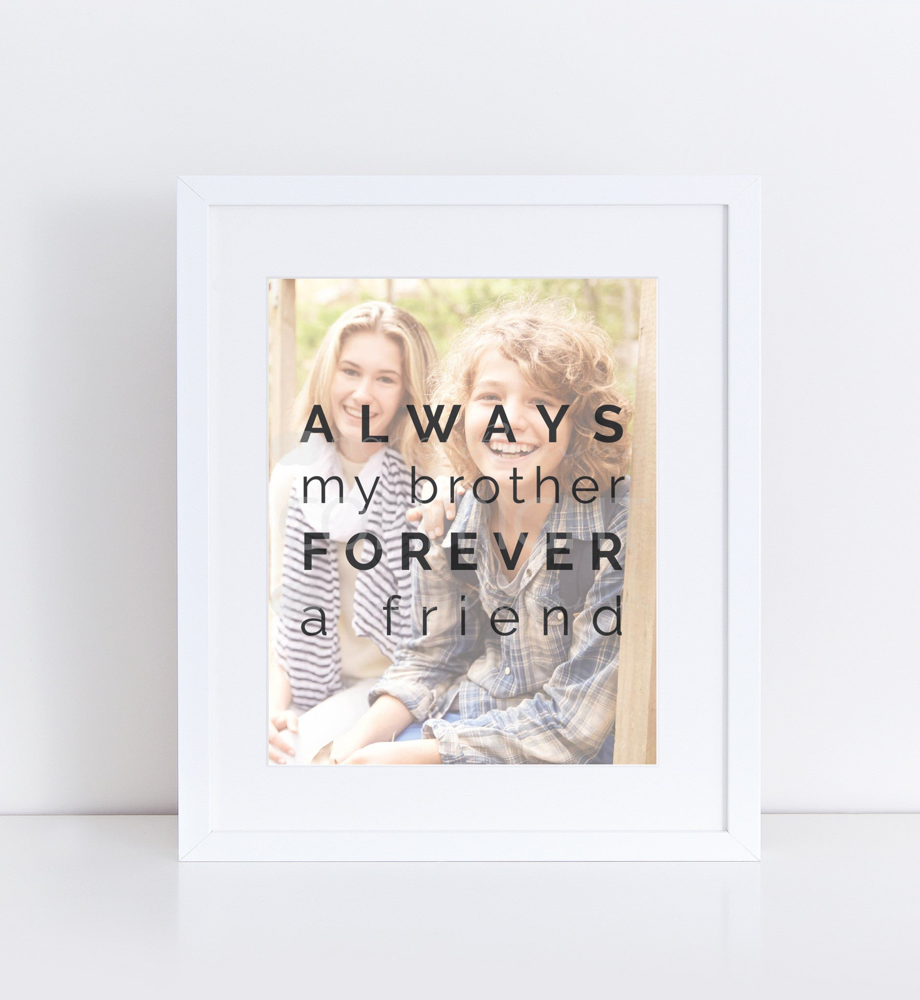 Always My Brother Personalized Photo Quote