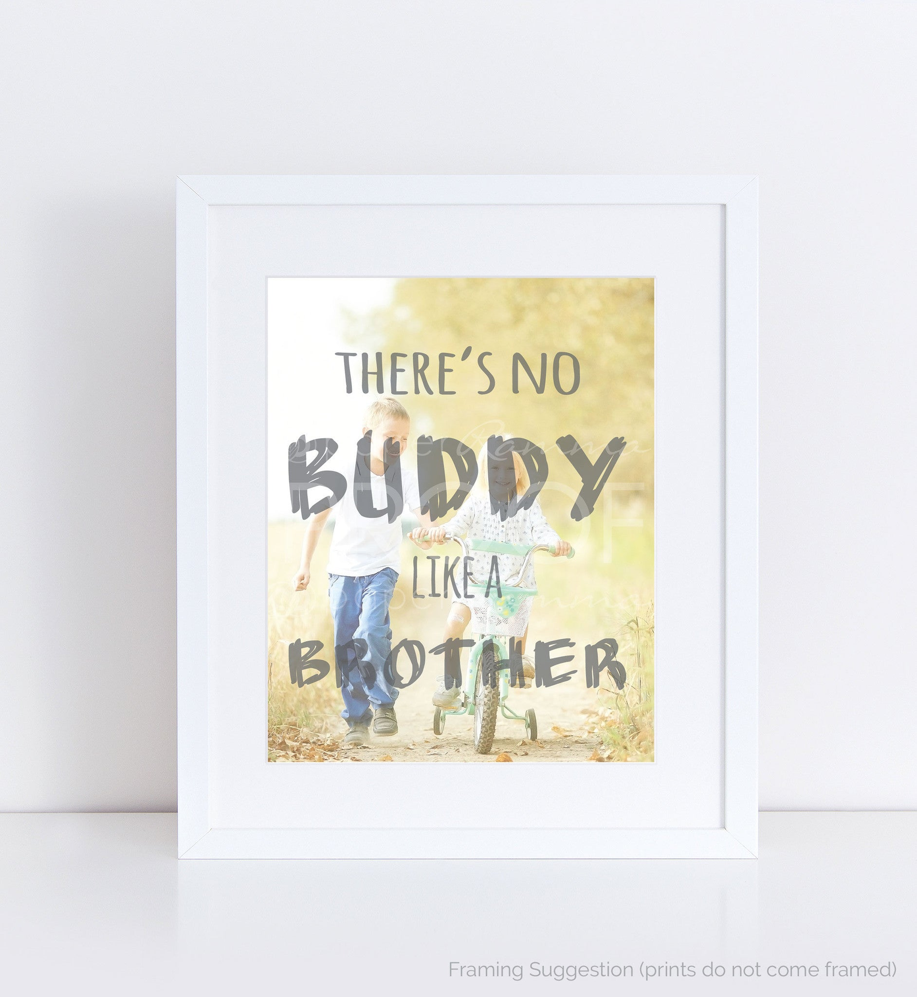 Brother Personalized Photo Quote