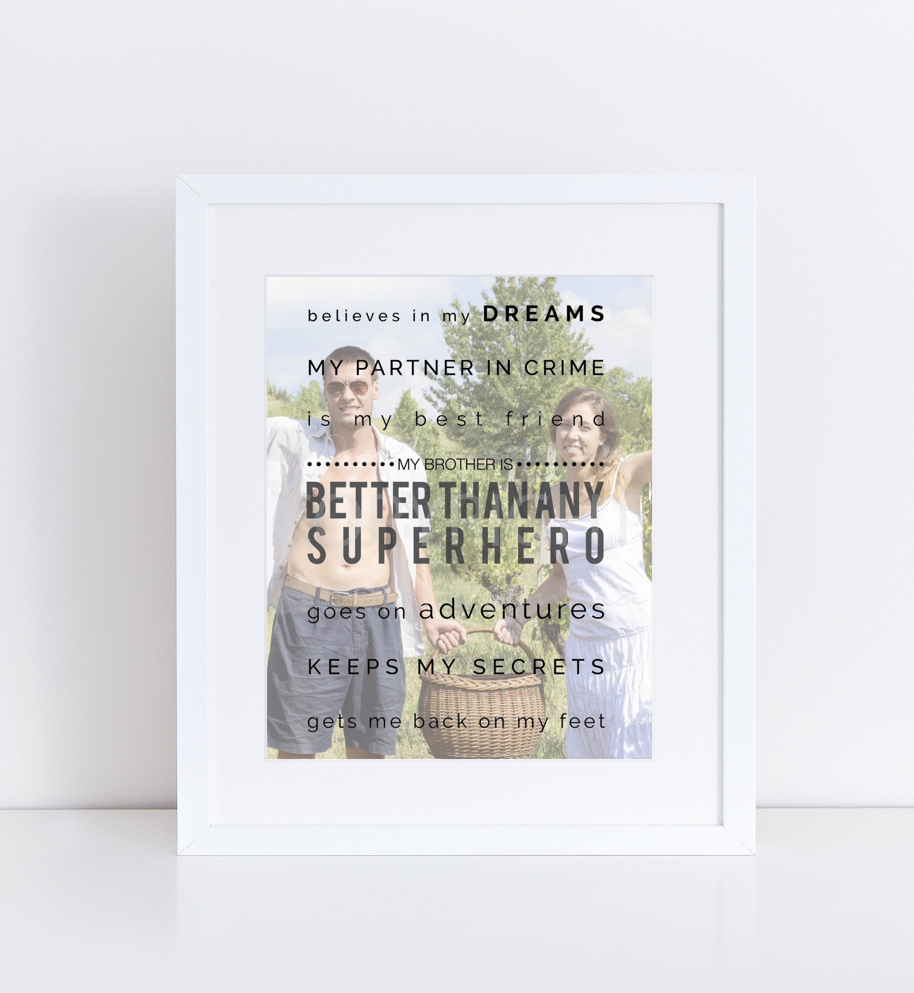 Superhero Brother Personalized Photo Quote