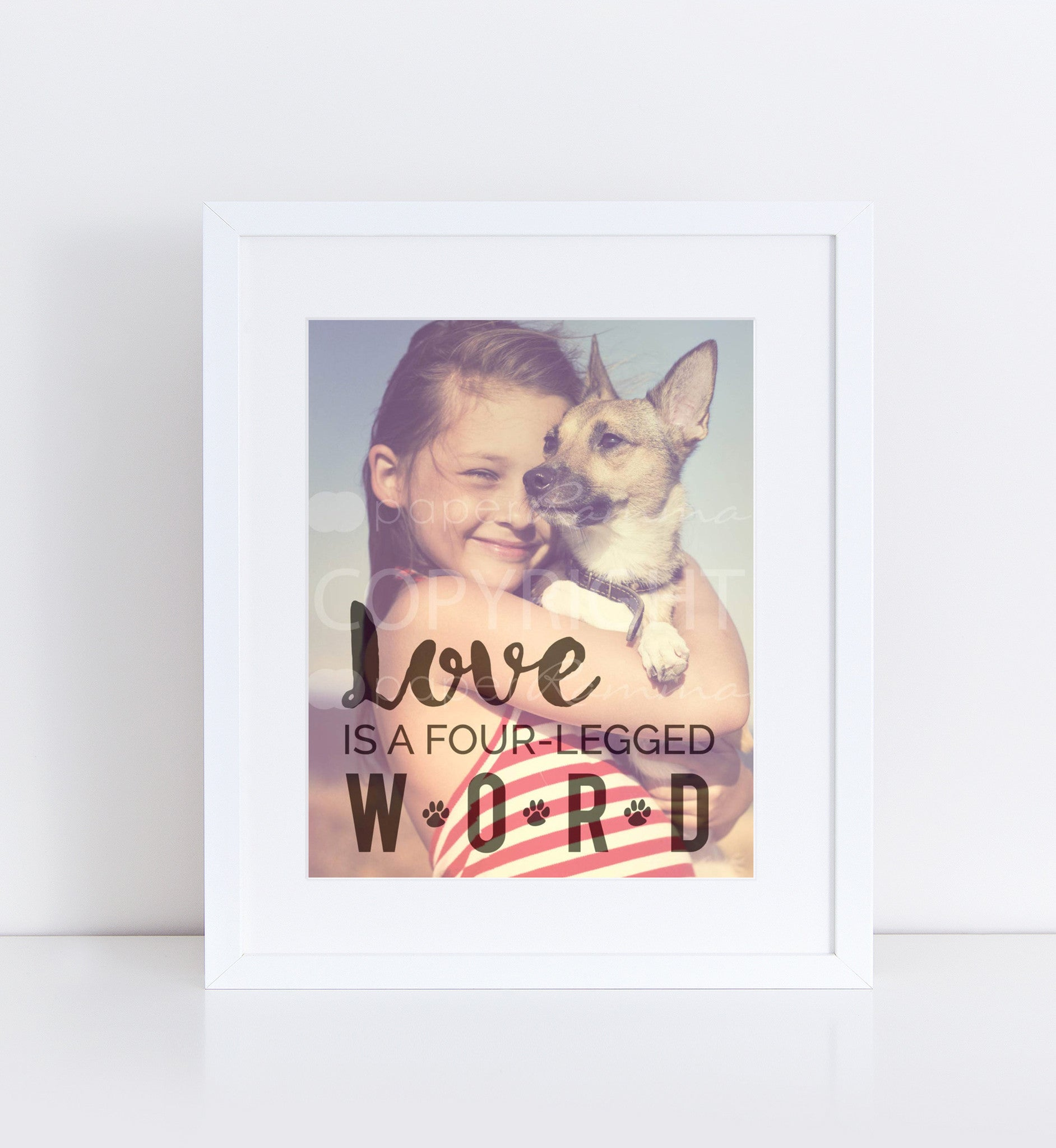 Four-Legged Word Personalized Photo Quote