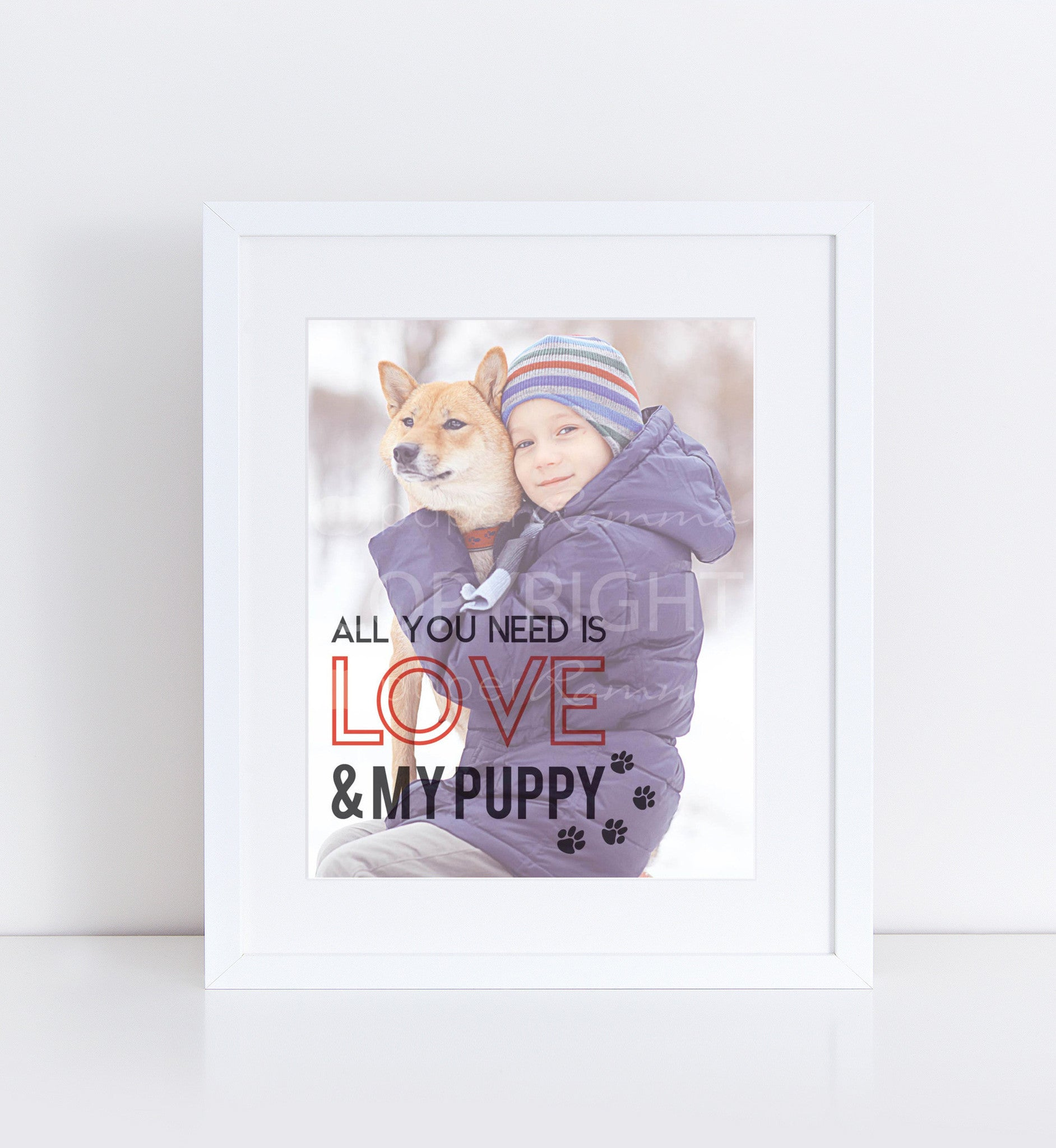 Love & My Puppy Personalized Photo Quote