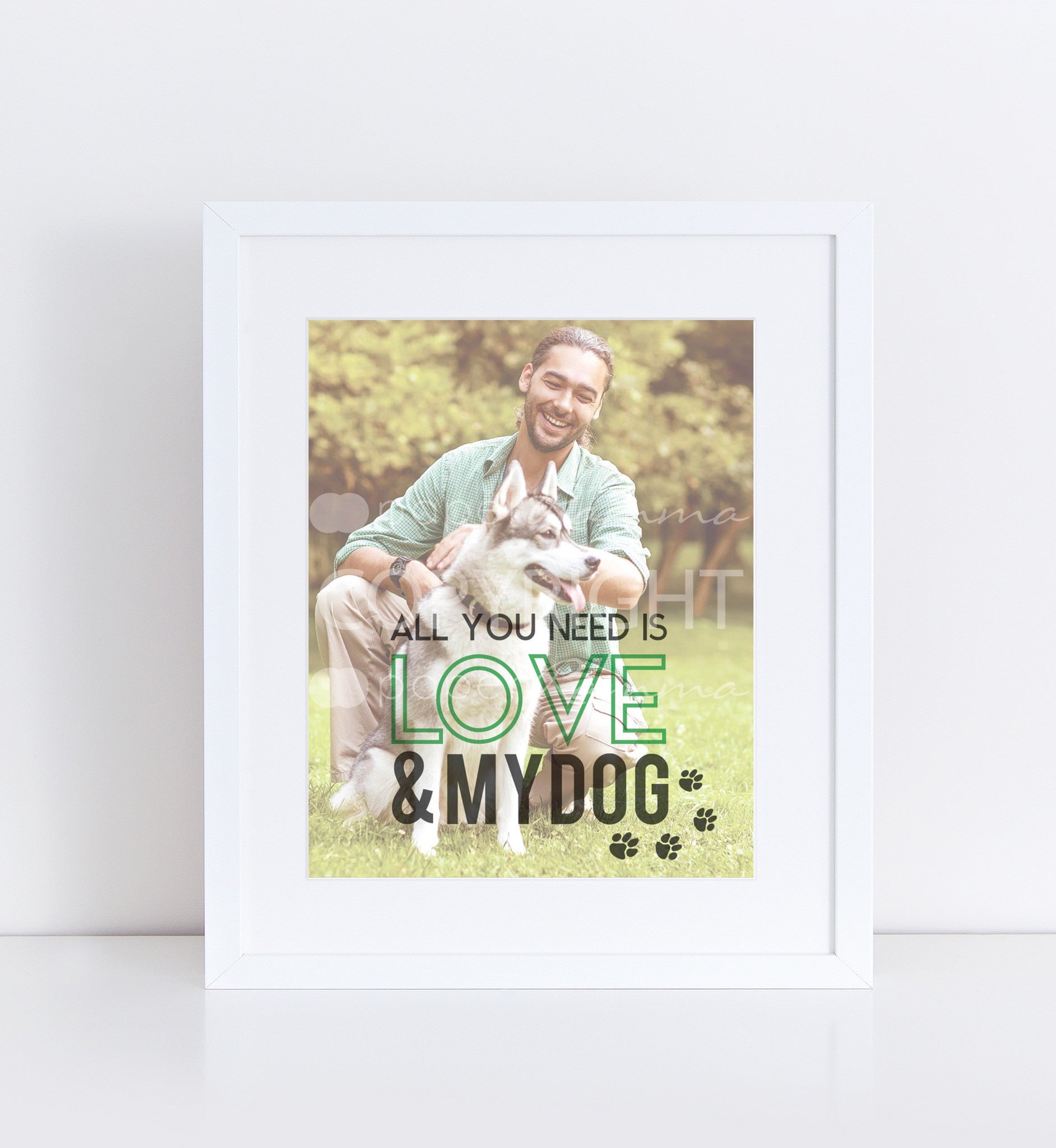 Love & My Dog Personalized Photo Quote