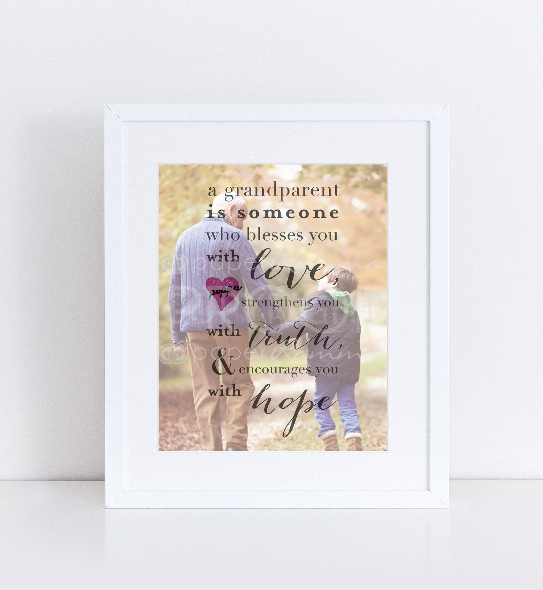 Custom Grandparent Personalized Photo Quote