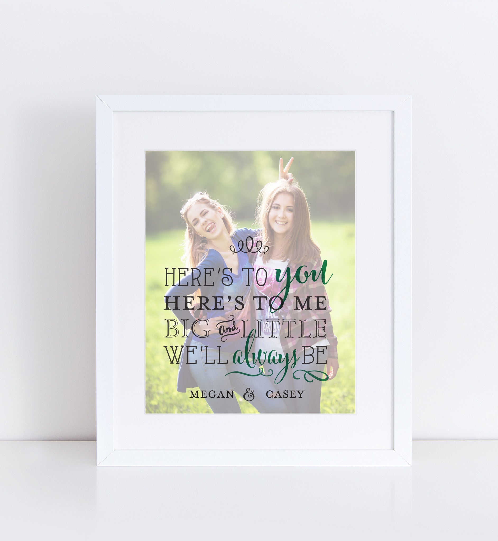 Here's To You & Me, Personalized Photo Gifts