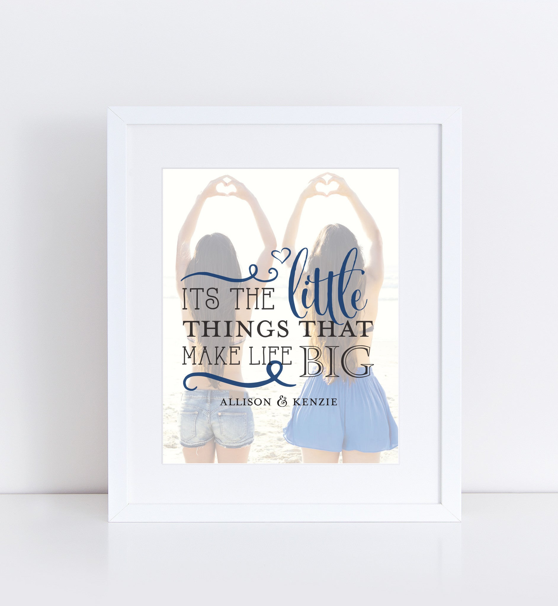 Little Things  Personalized Photo Quote