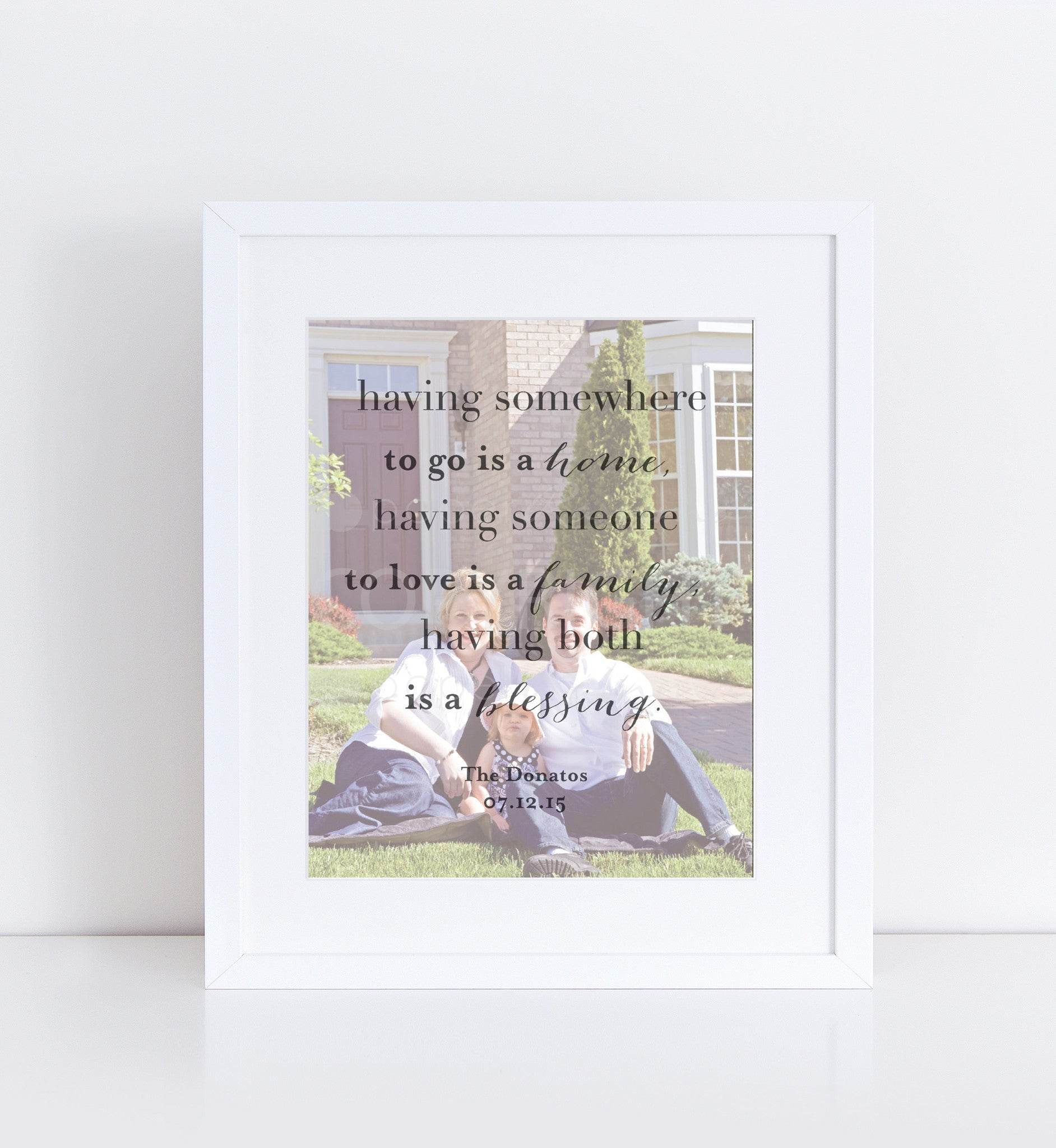 New Home Personalized Photo Quote