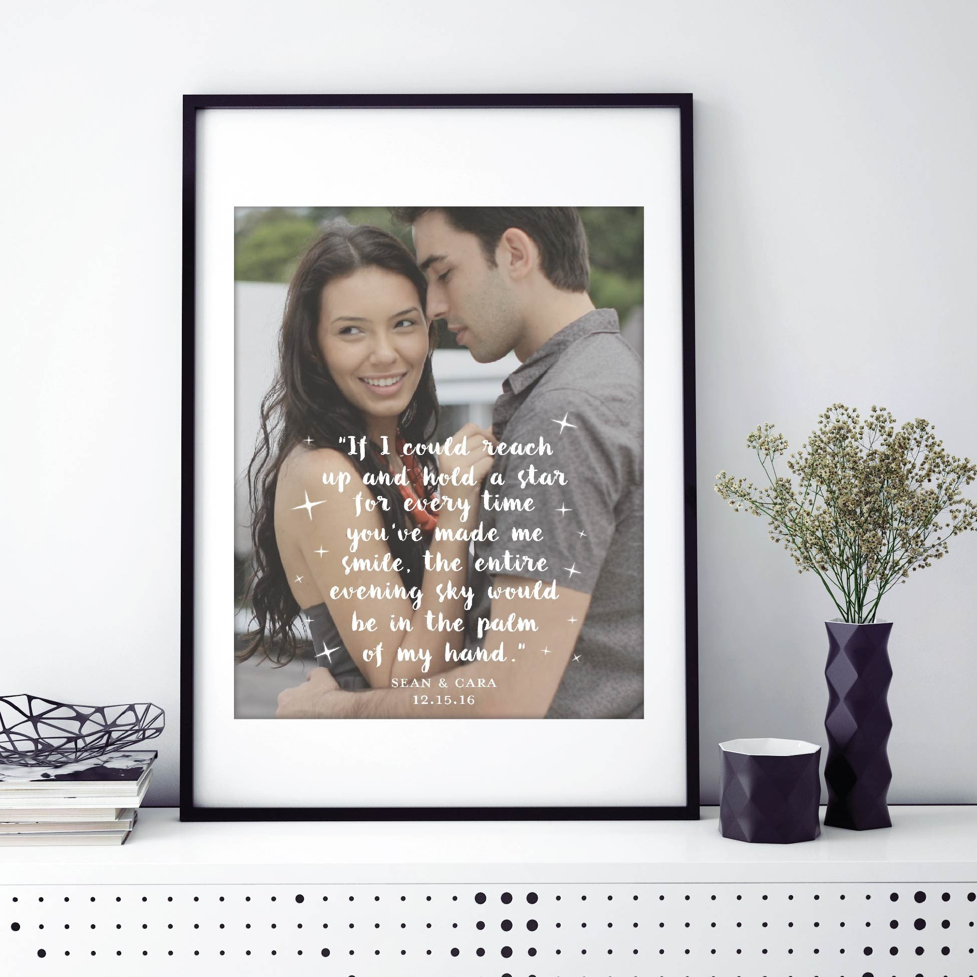 Anniversary Engagement Personalized Photo Quote