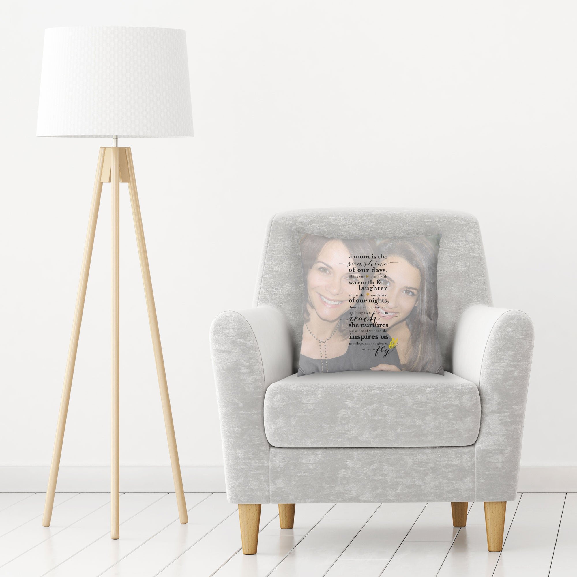 Mom Photo Quote Pillow