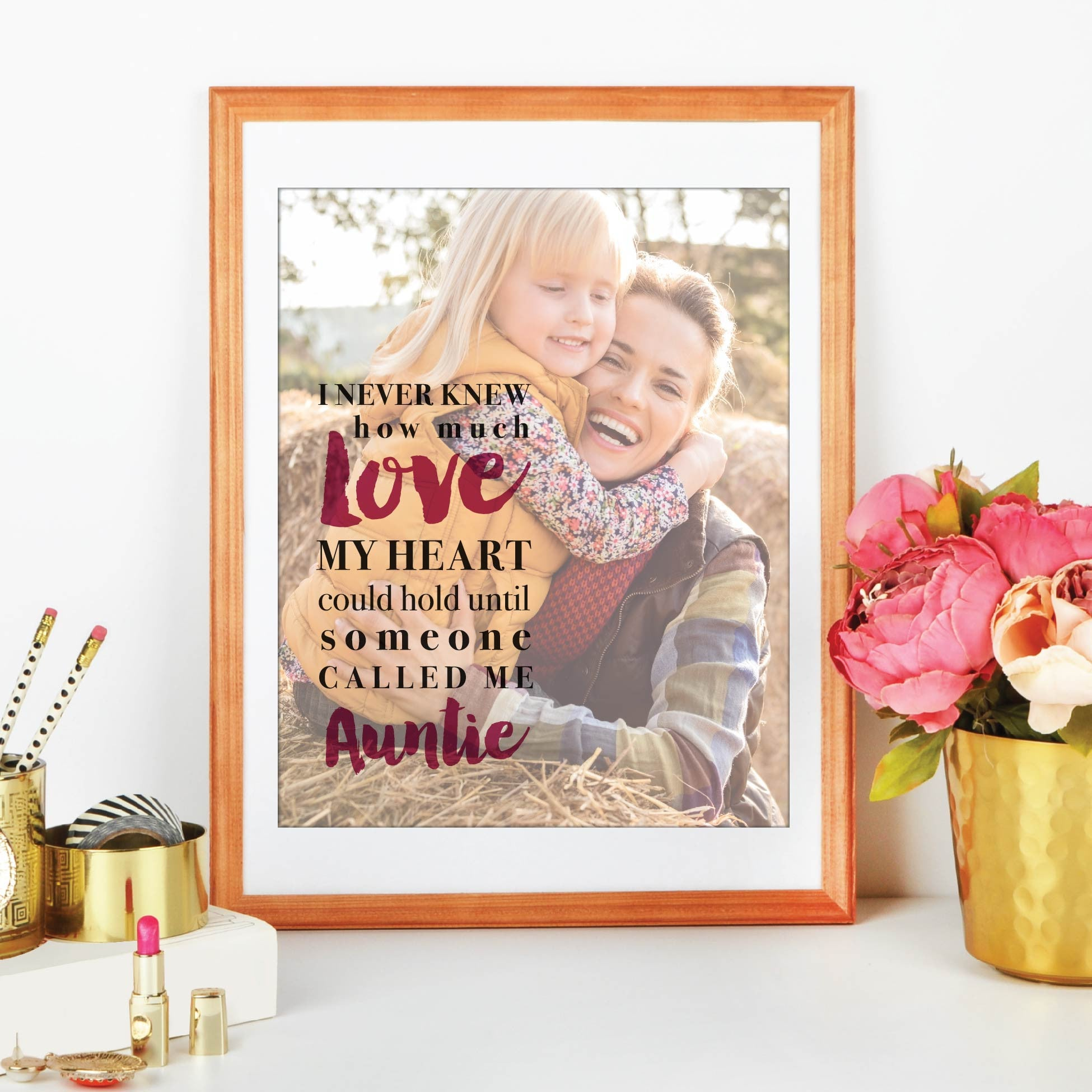 I Never Knew How Much Love Personalized Photo Quote