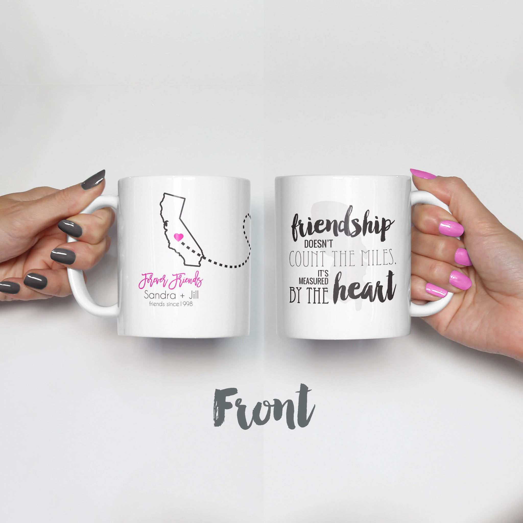 Long Distance Best Friends Mug Set