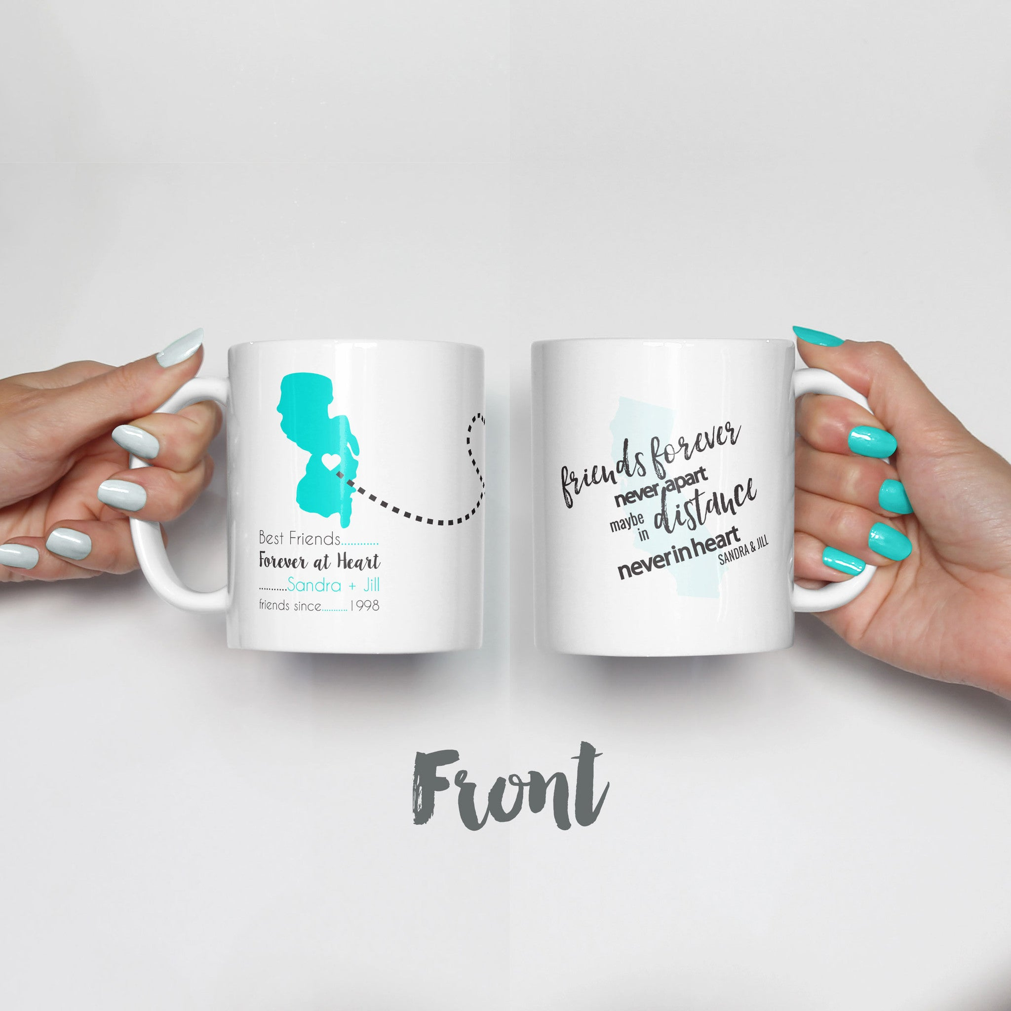 Long Distance Friends Mug Set