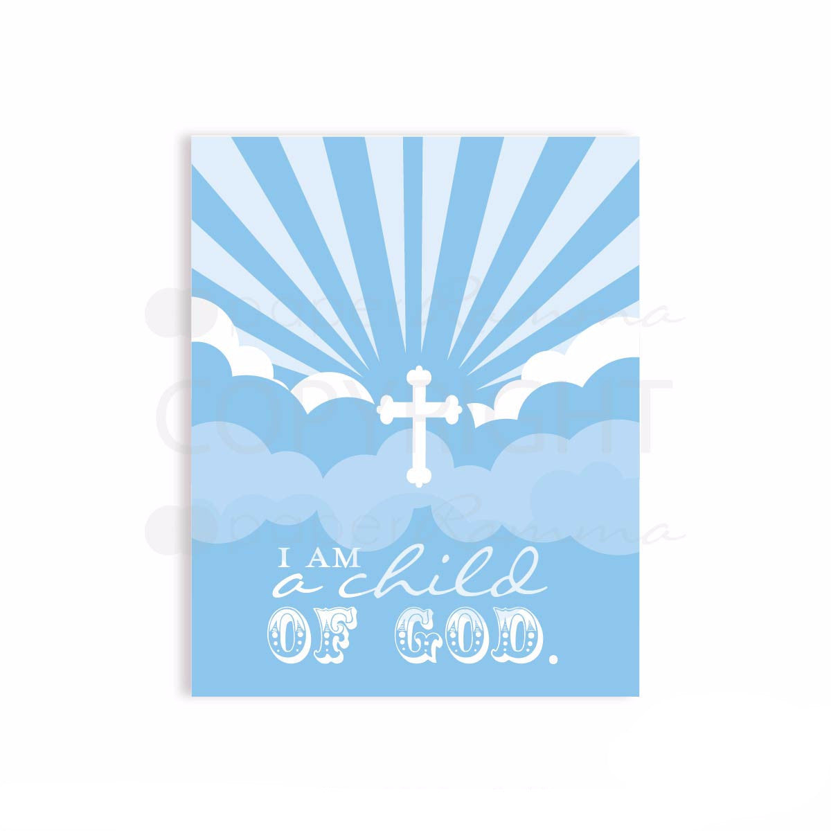 I am a child of God Art Nursery & Kids Art Print