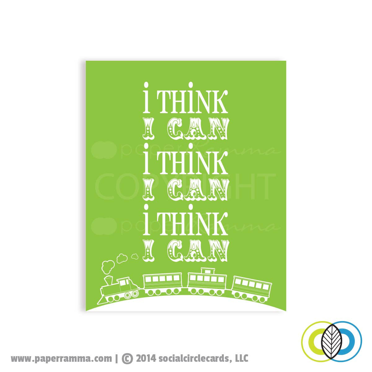 I think I can, Train  Print</br> <small> <i> Nursery & Kids Art Print </i> </br> <small> available in 5x7 - 20x30 </small>