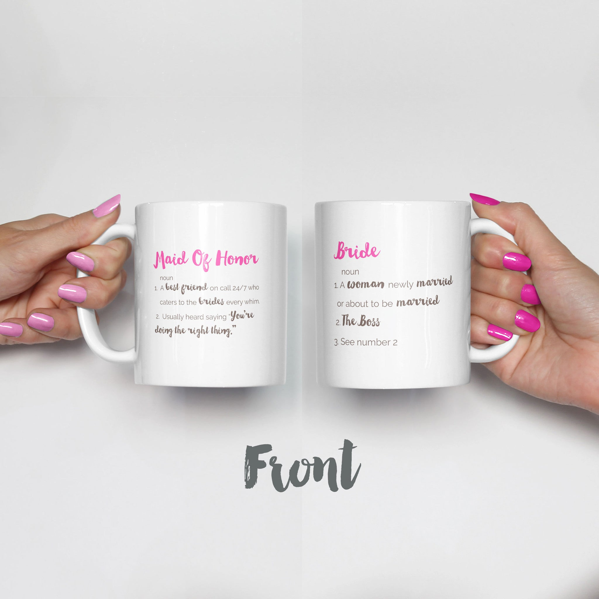 MOH Bride Definition Mug Set