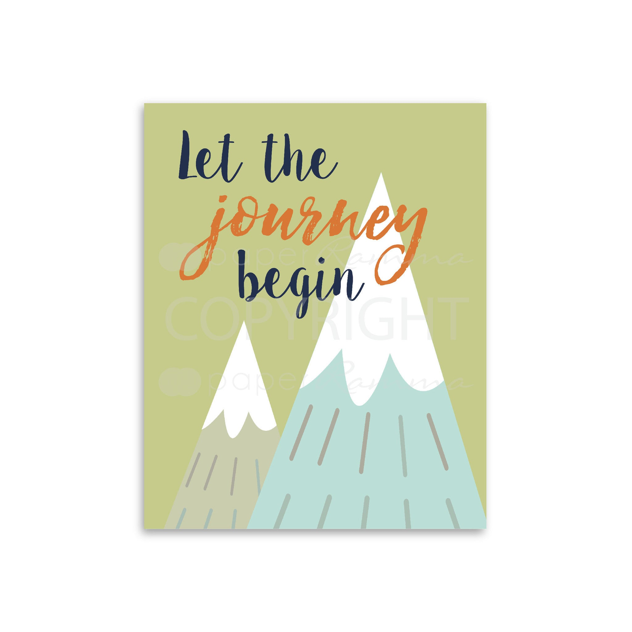 Let The Journey Begin Nursery & Kids Art Print