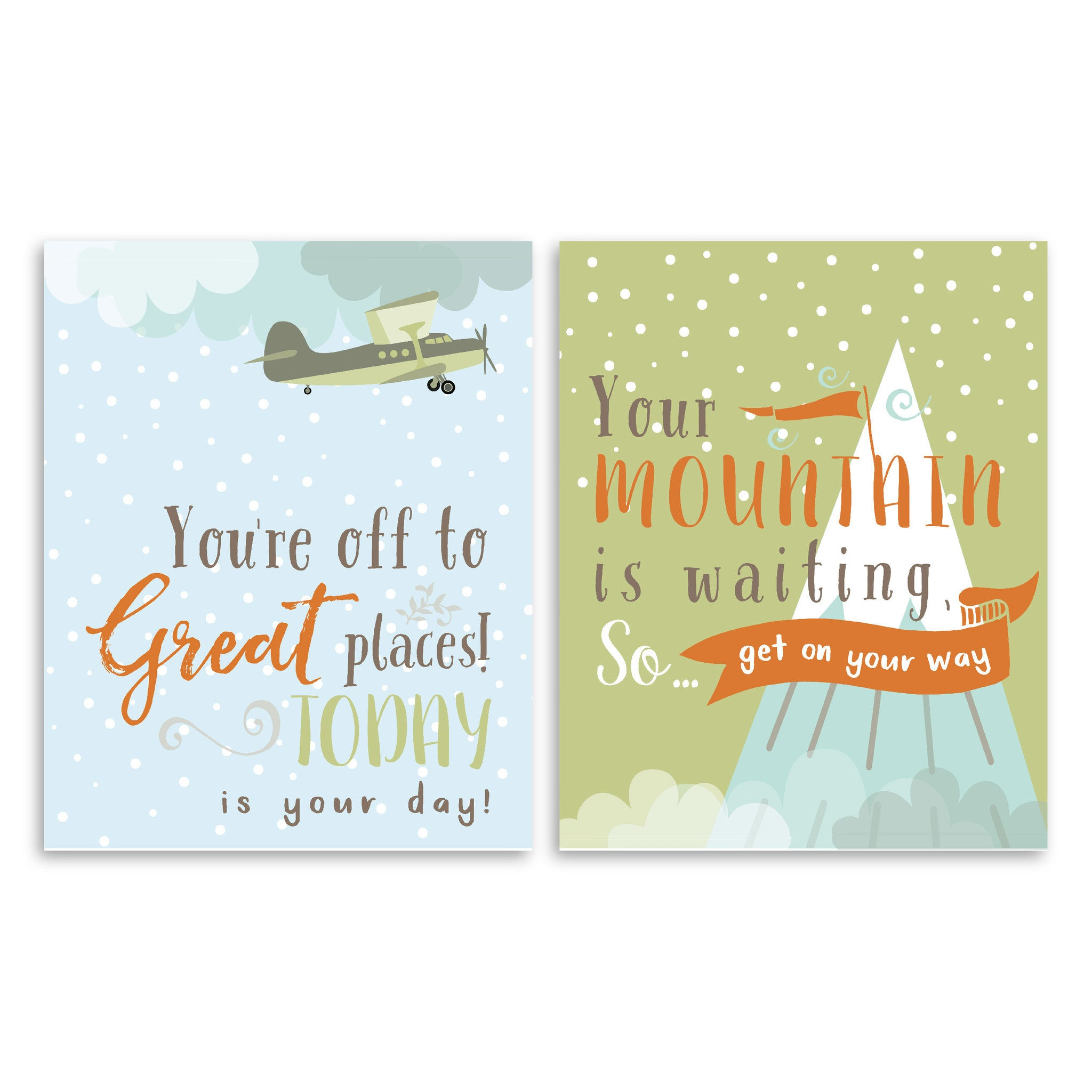 You're Off To Great Places Rustic Nursery & Kids Art Print Set