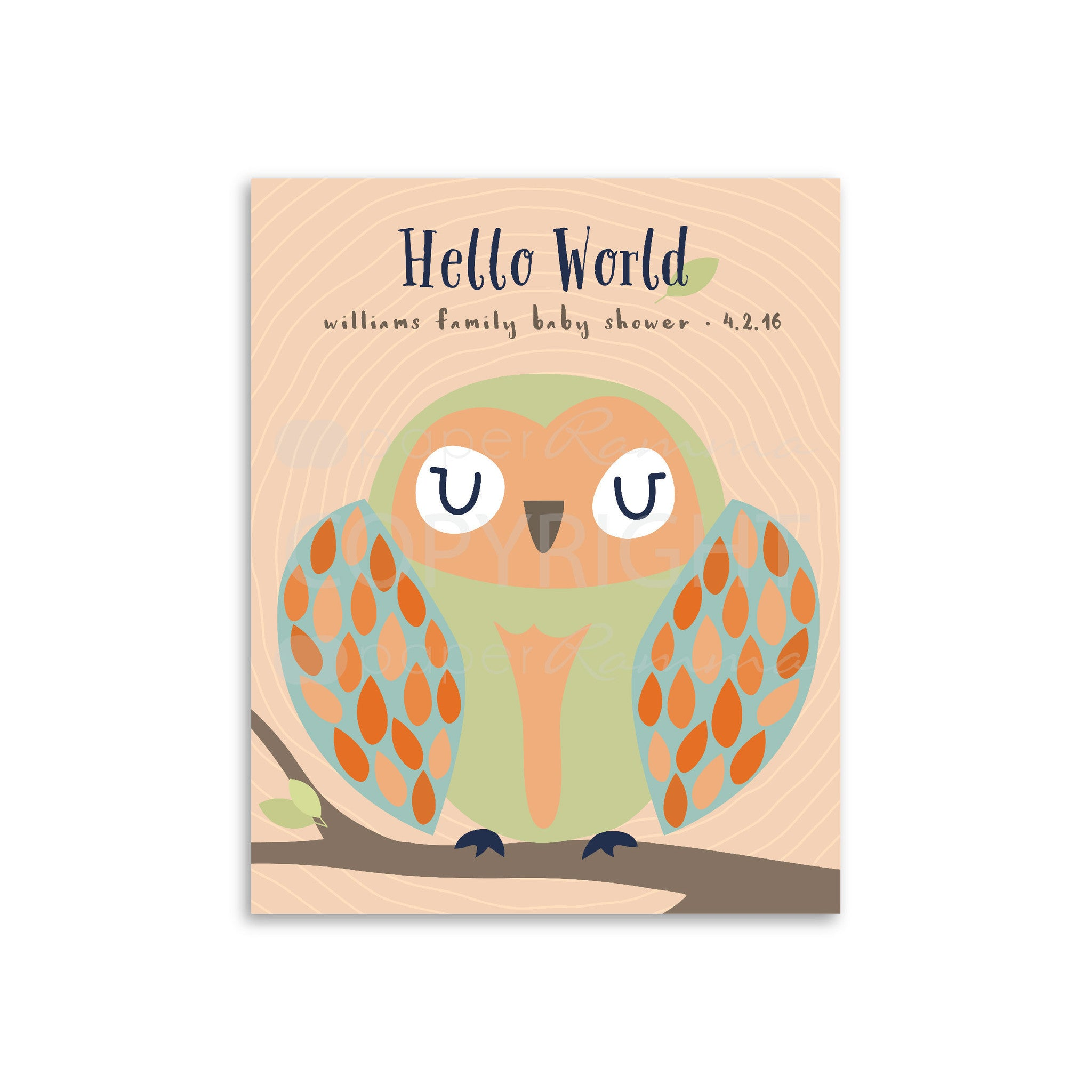 Woodland Owl Baby Shower Guestbook