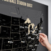NFL Stadiums Travel Map