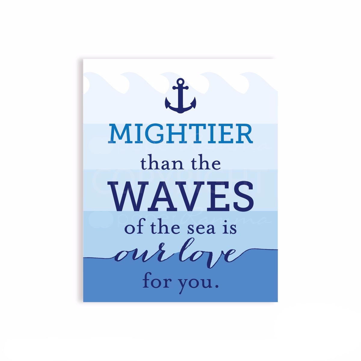 Mightier than the Waves Print</br> <small> <i> Nursery & Kids Art Print </i> </br> <small> available in 5x7 - 20x30 </small>