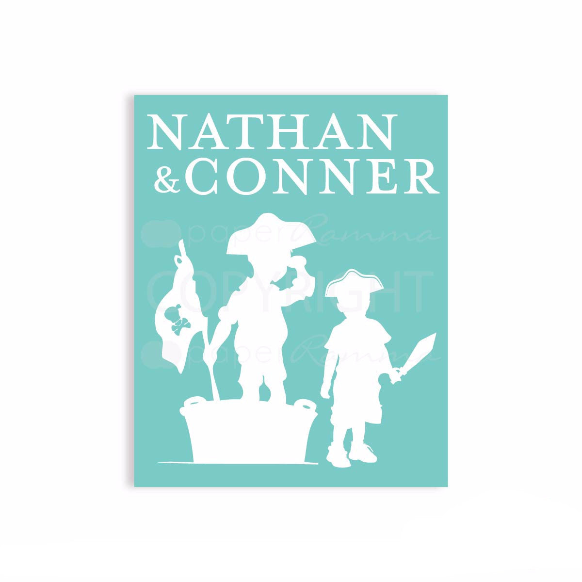 Pirate Children Silhouette Gift