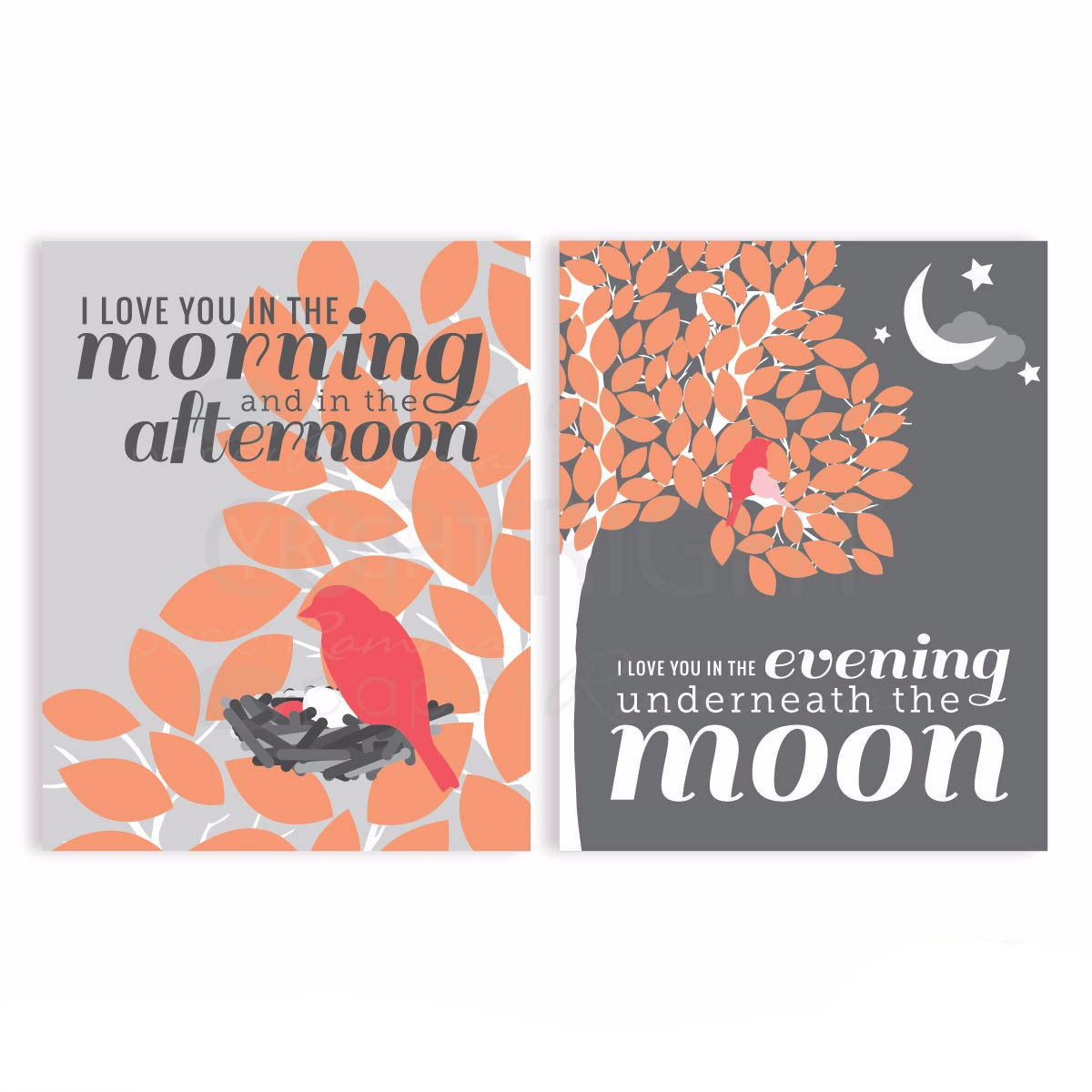 I Love You In the Morning Lyric Nursery & Kids Art Print Set