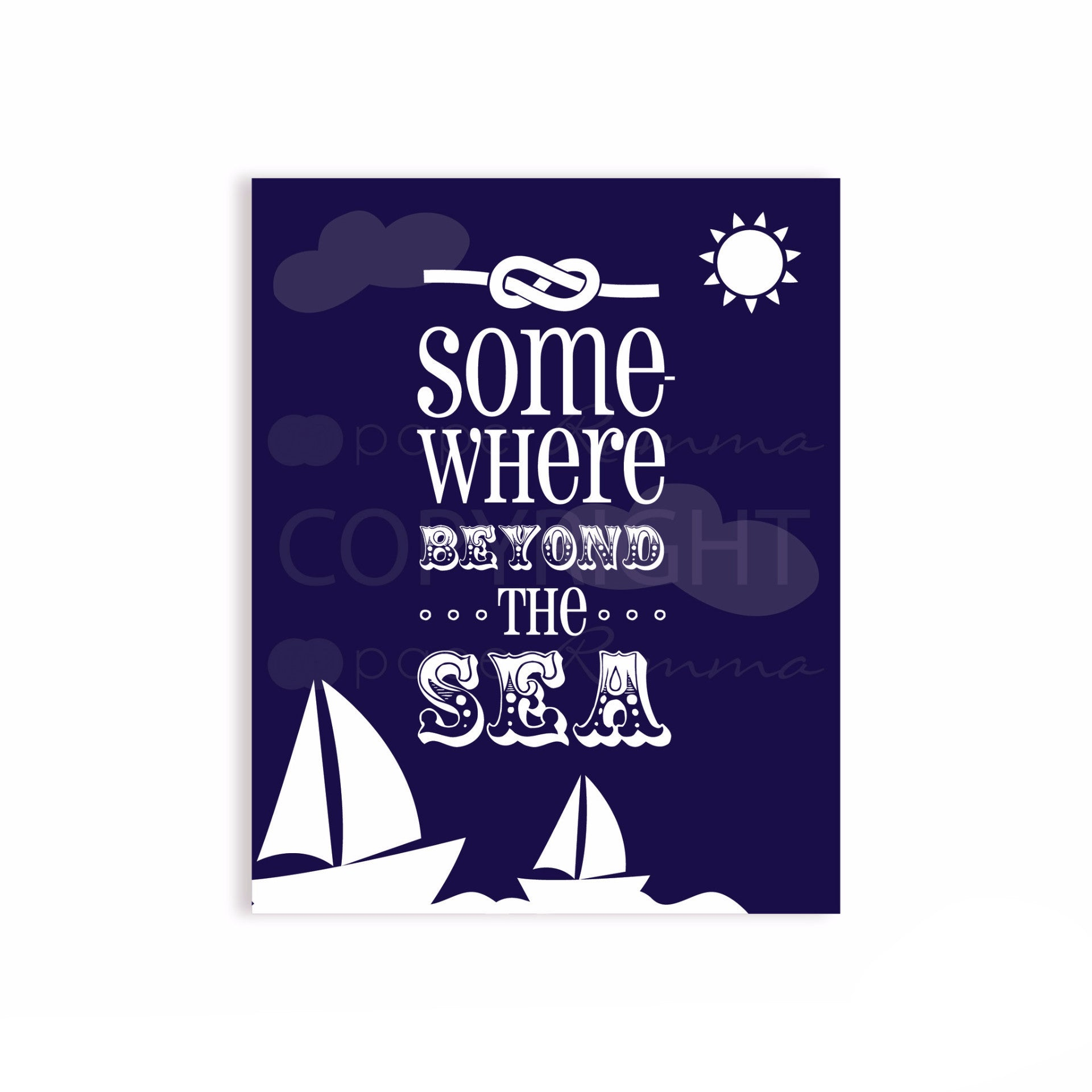 Somewhere Beyond the Sea Nursery & Kids Art Print
