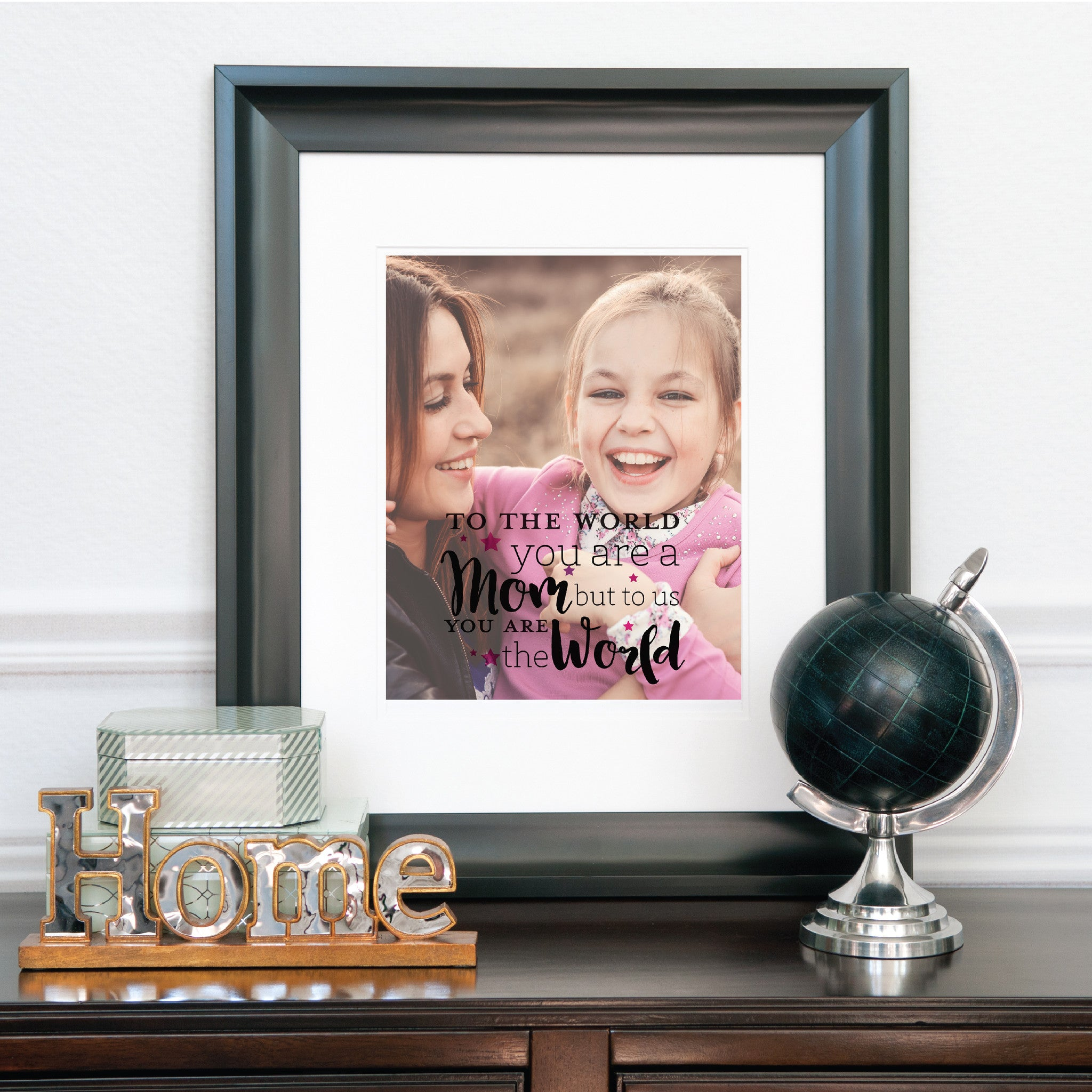 A Mom... Personalized Photo Quote