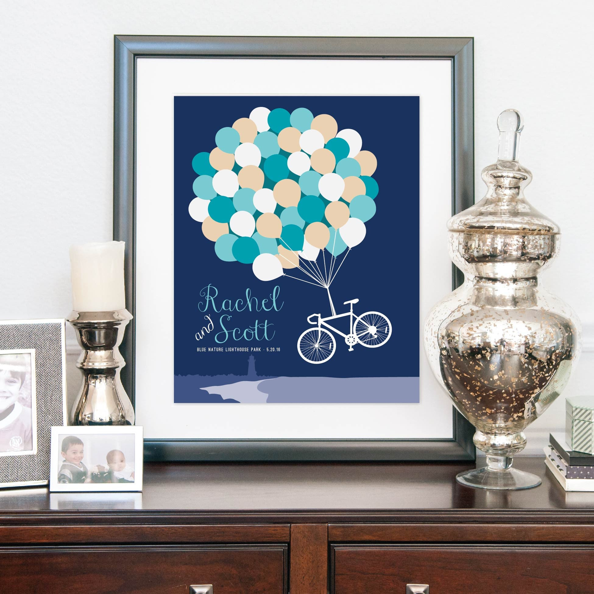 Wedding Balloon & Bicycle Guestbook