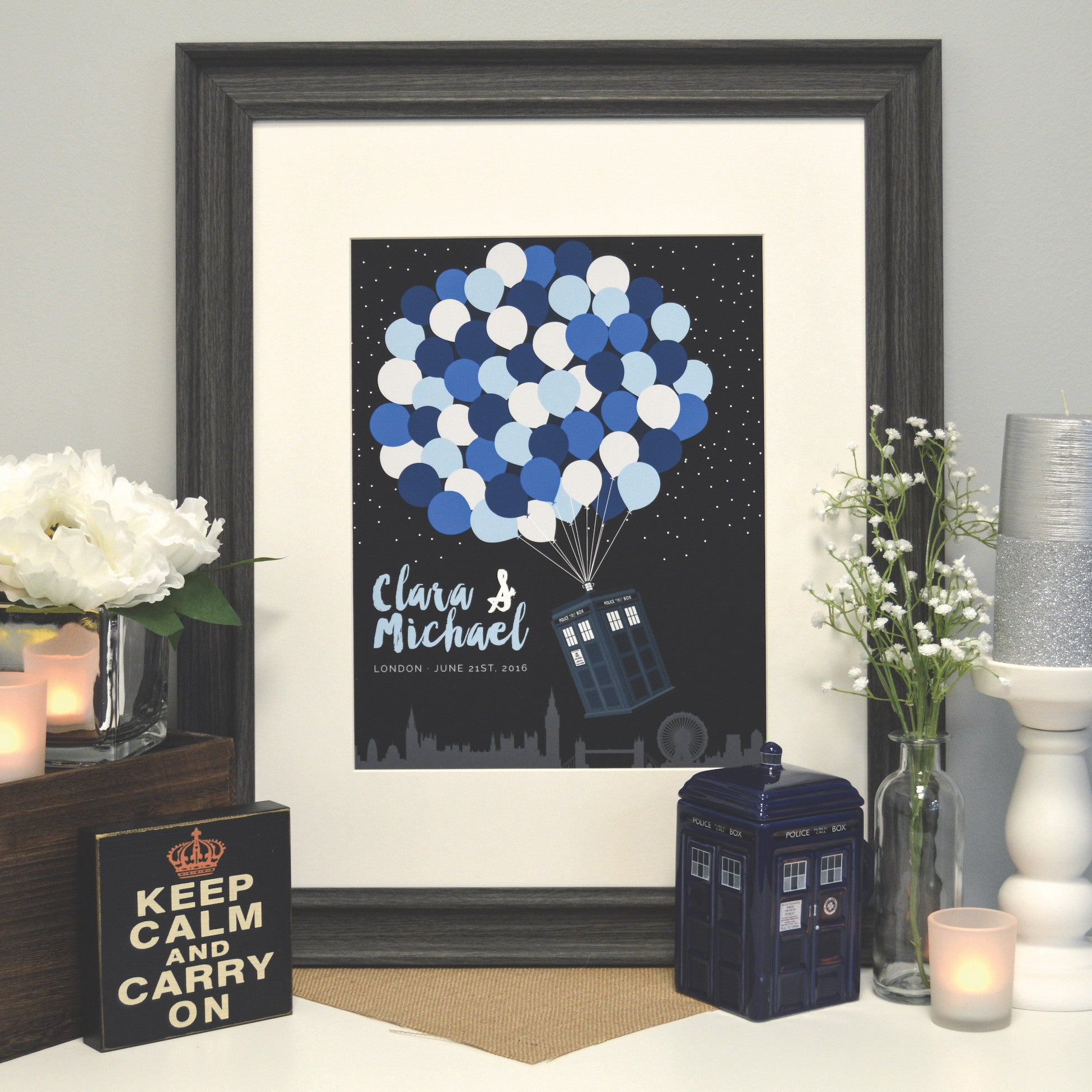 Doctor Who TARDIS Wedding Guestbook