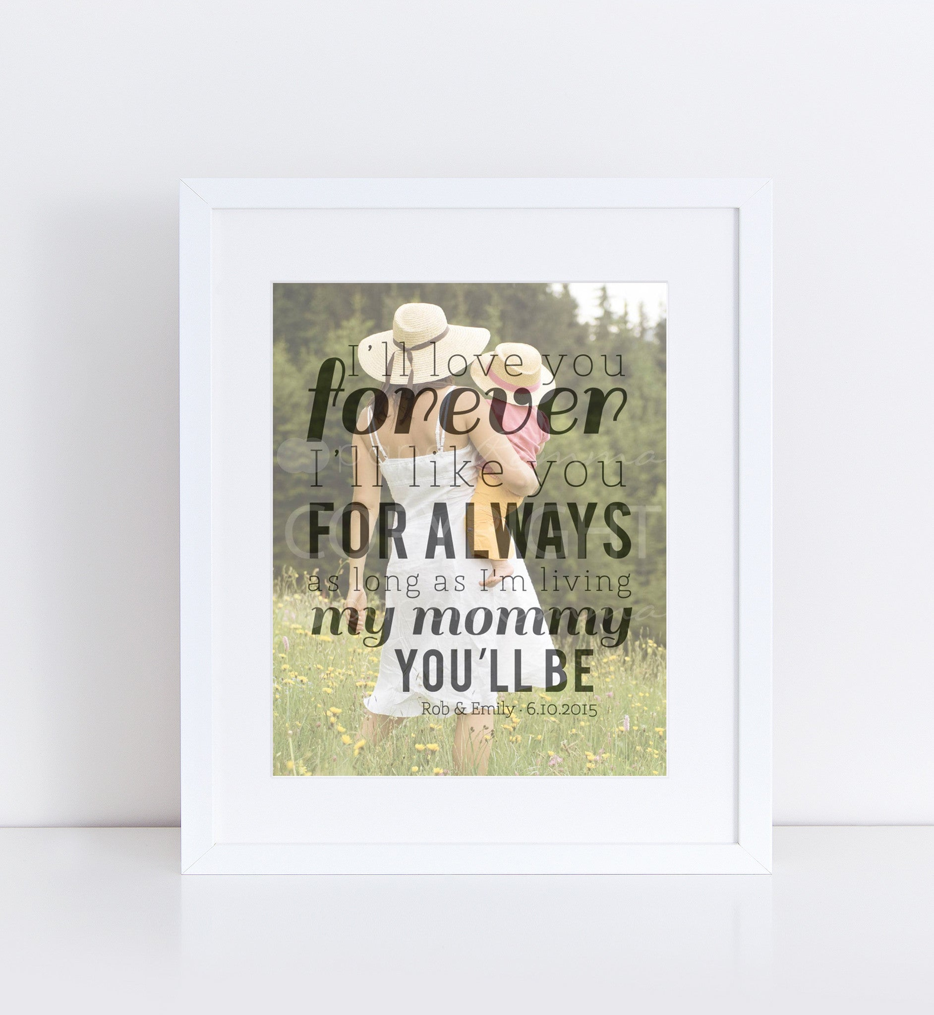 Custom Gift For Mom Personalized Photo Quote