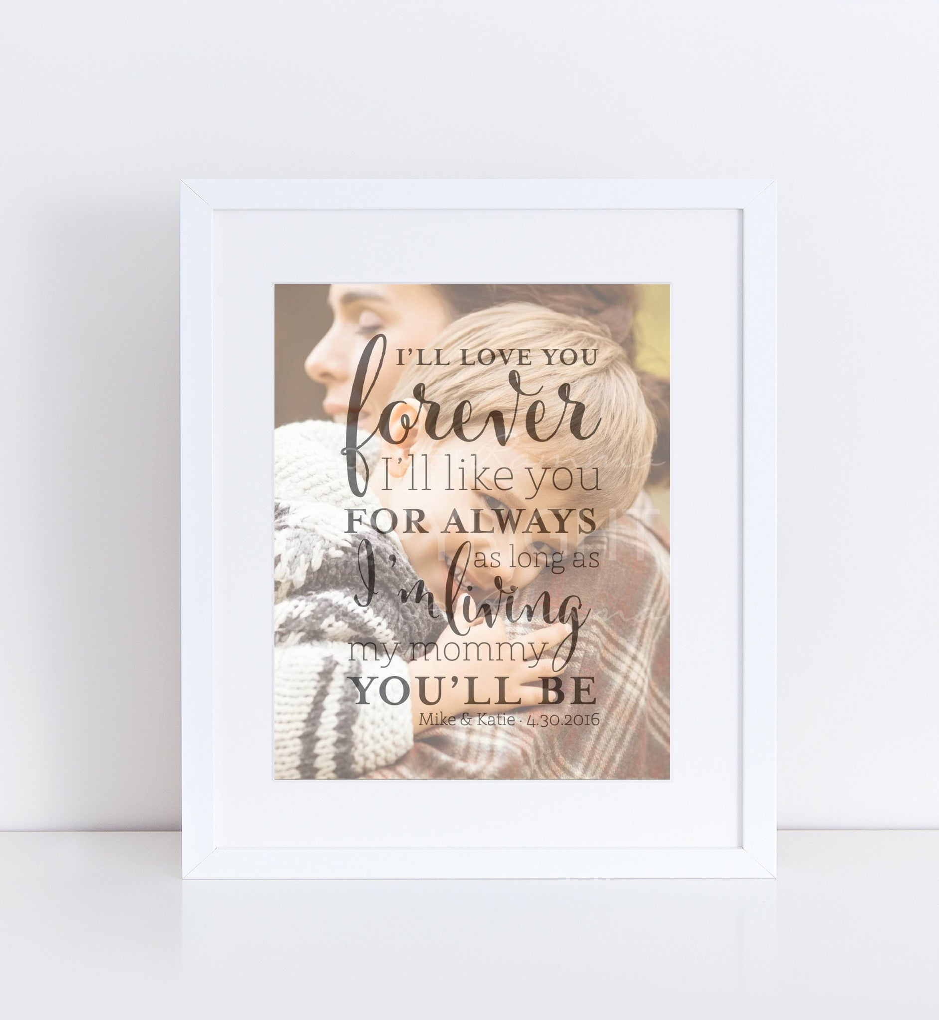 Mother of the Groom Personalized Photo Quote