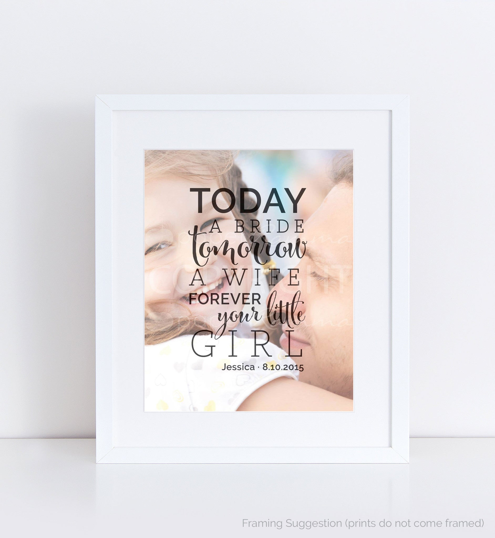 Forever Your Little Girl Photo Quote, Personalized Photo Gifts