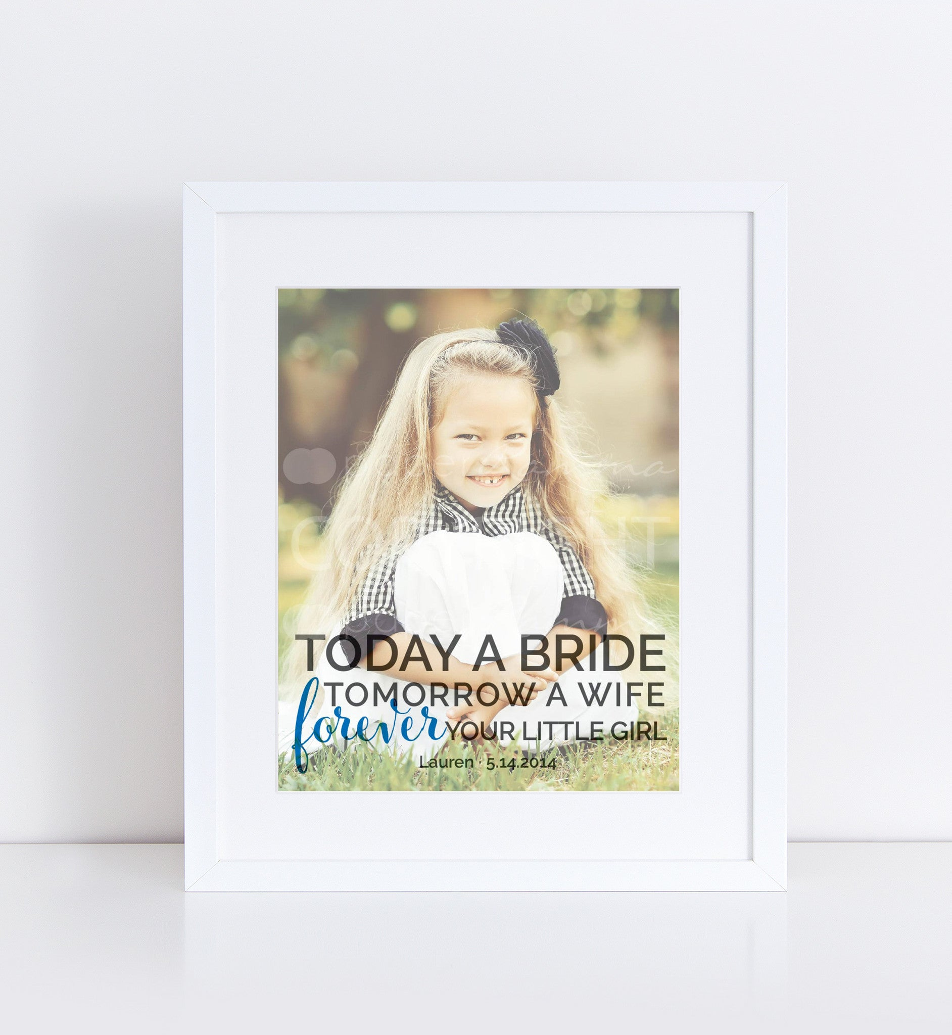 Father's Day Gift Forever Your Little Girl Personalized Photo Quote
