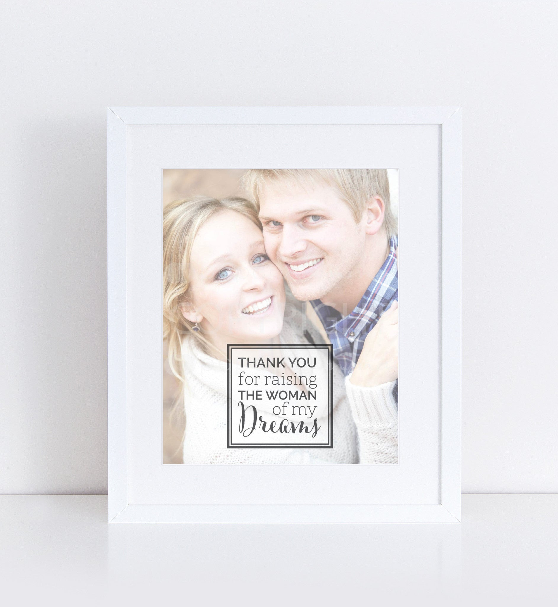 Parents of the Bride Personalized Photo Quote