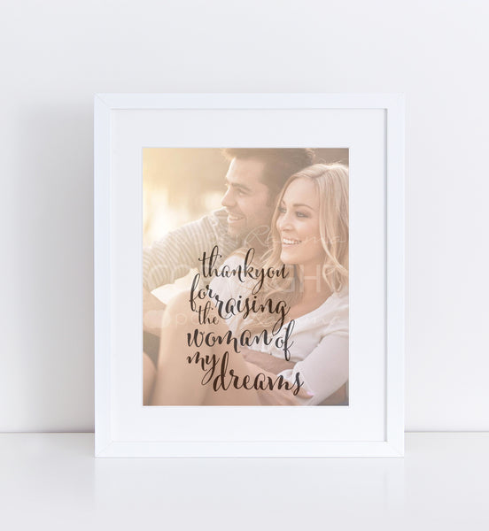 parents of the bride gift personalized photo quote 76thandnewbury