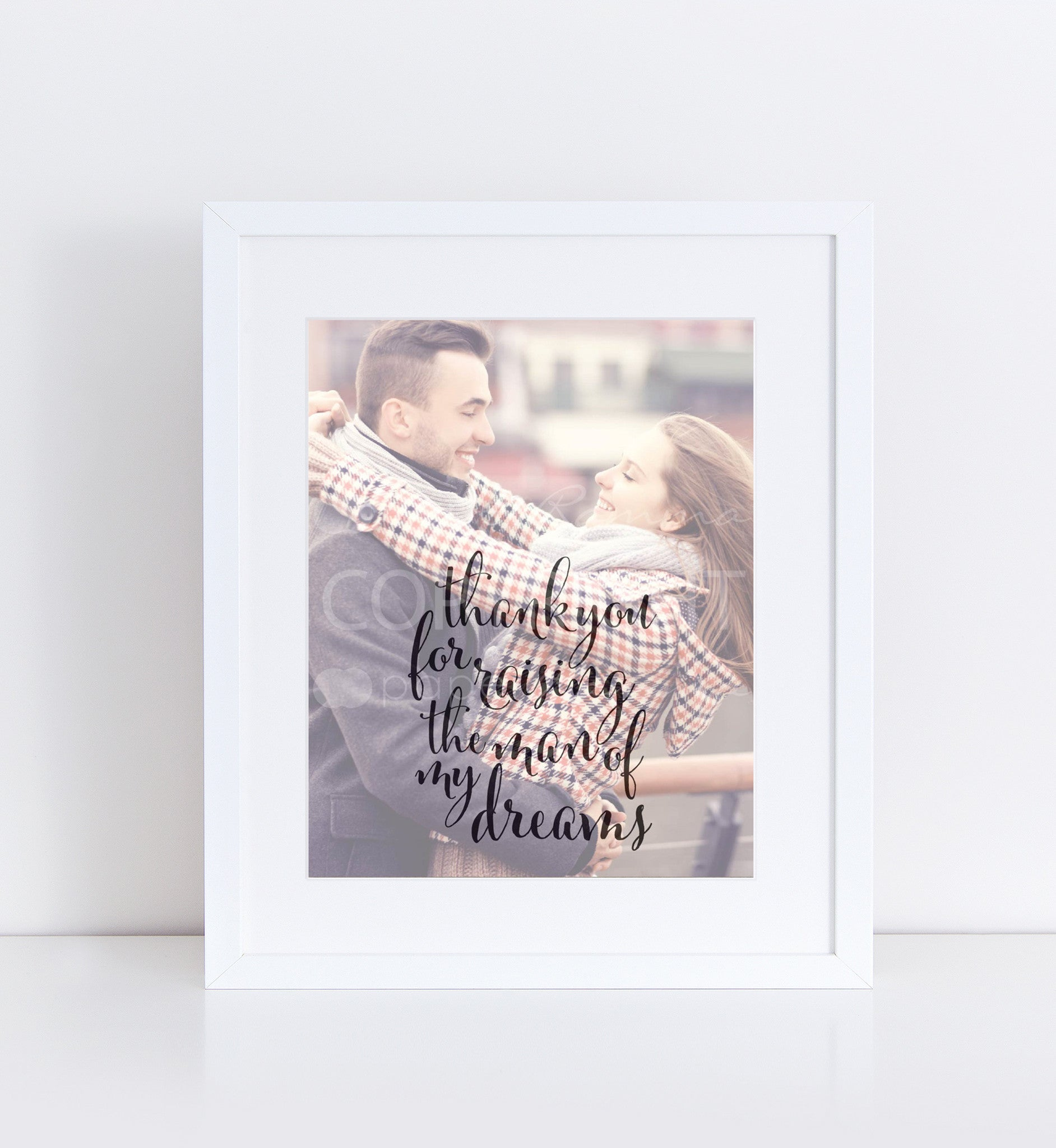 Man of My Dreams Wedding Personalized Photo Quote