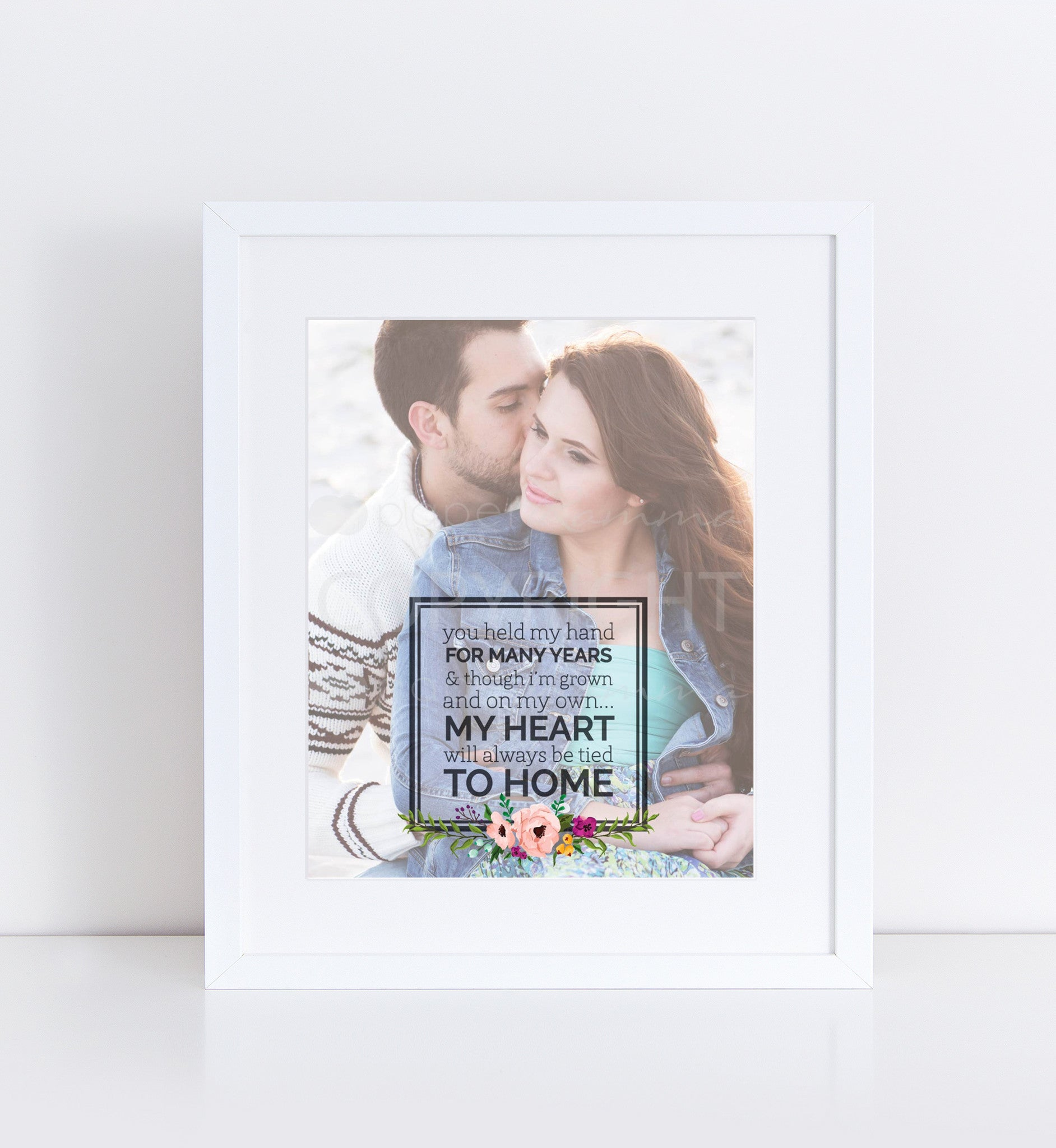 Our Loving Parents Quote, Wedding Gift for Parents, Wedding Photo Keepsake <br> <small> <i> Photo Quote Print </i> </br> <small> available in 8x10 - 20x30 </small>