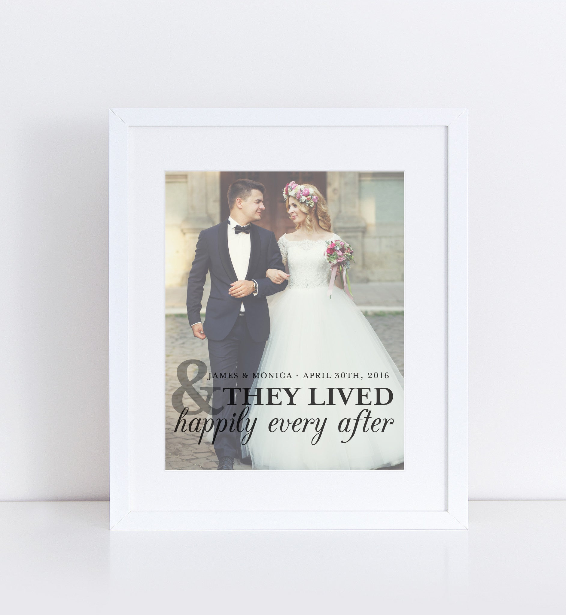 Happily Ever After Photo Quote, Personalized Photo Gifts